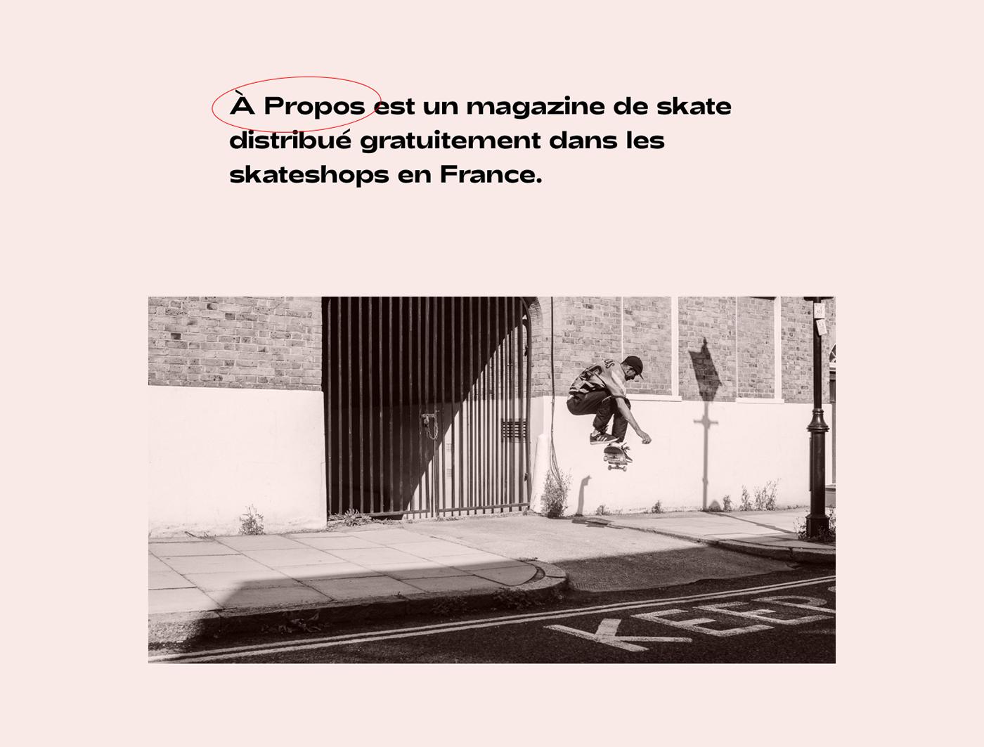 skate skateboard skateshop apropos Propos magazine mag