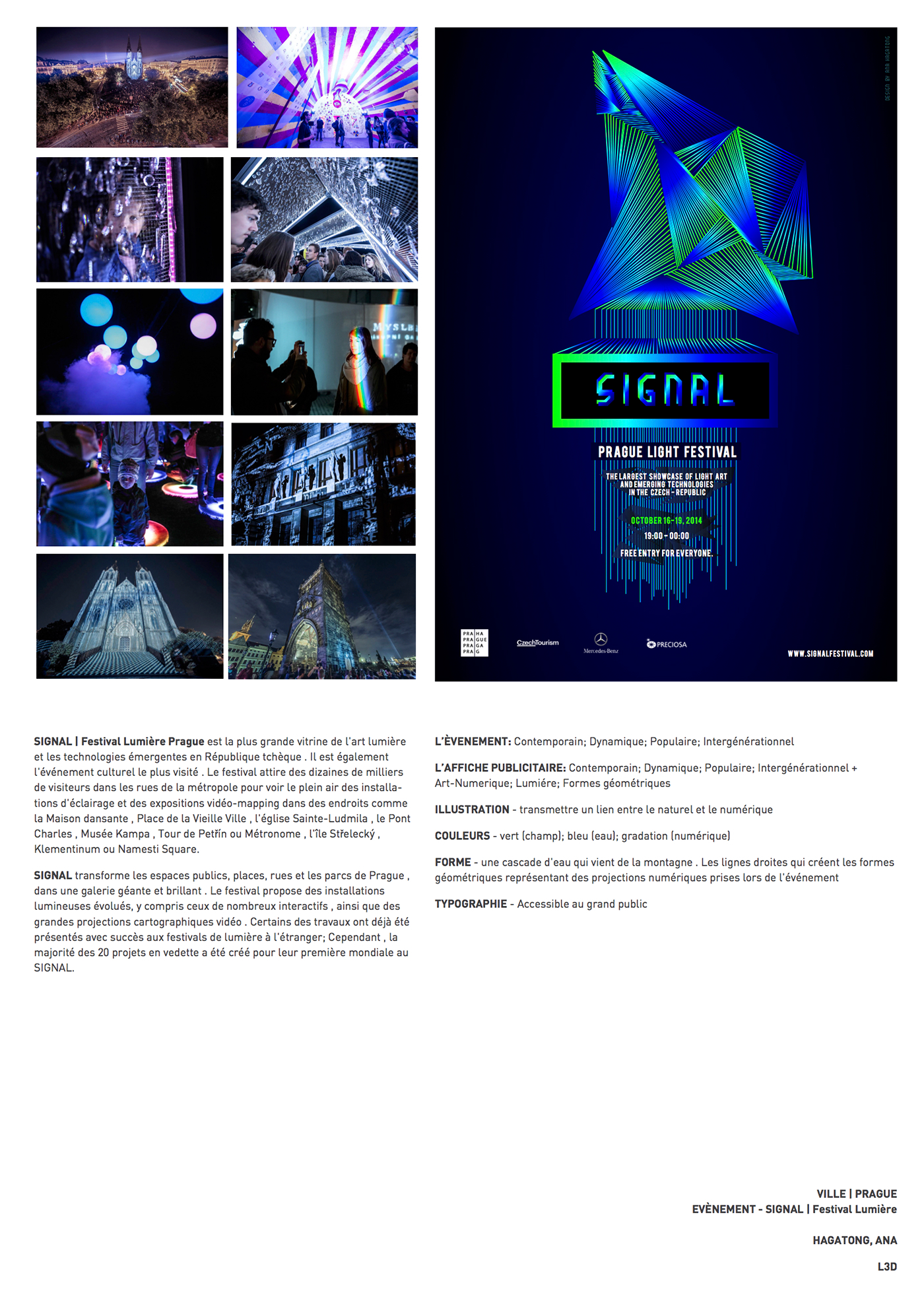 prague signal light festival poster graphic Conception Graphique