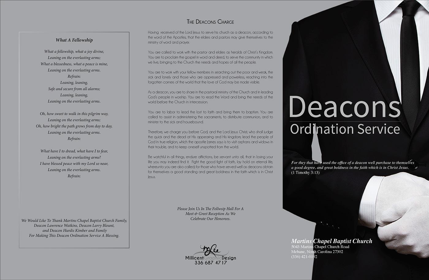 deacon ordination on behance