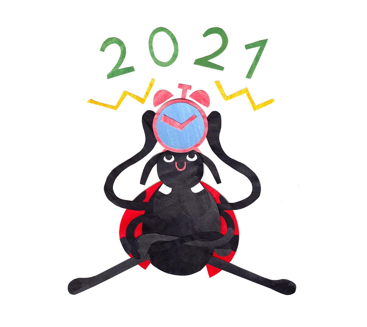 calendar2021 childrenbook Childrenstory collage illustratedbook Insects wallcalendar wallcalendar2021