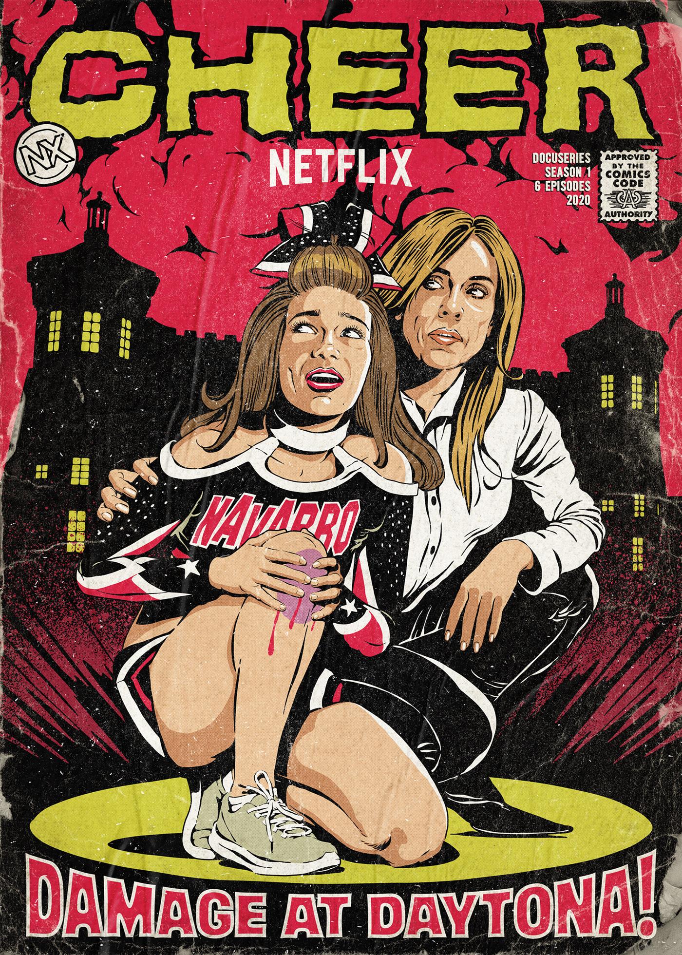 cheer comic books docuseries horror Netflix Retro series vintage