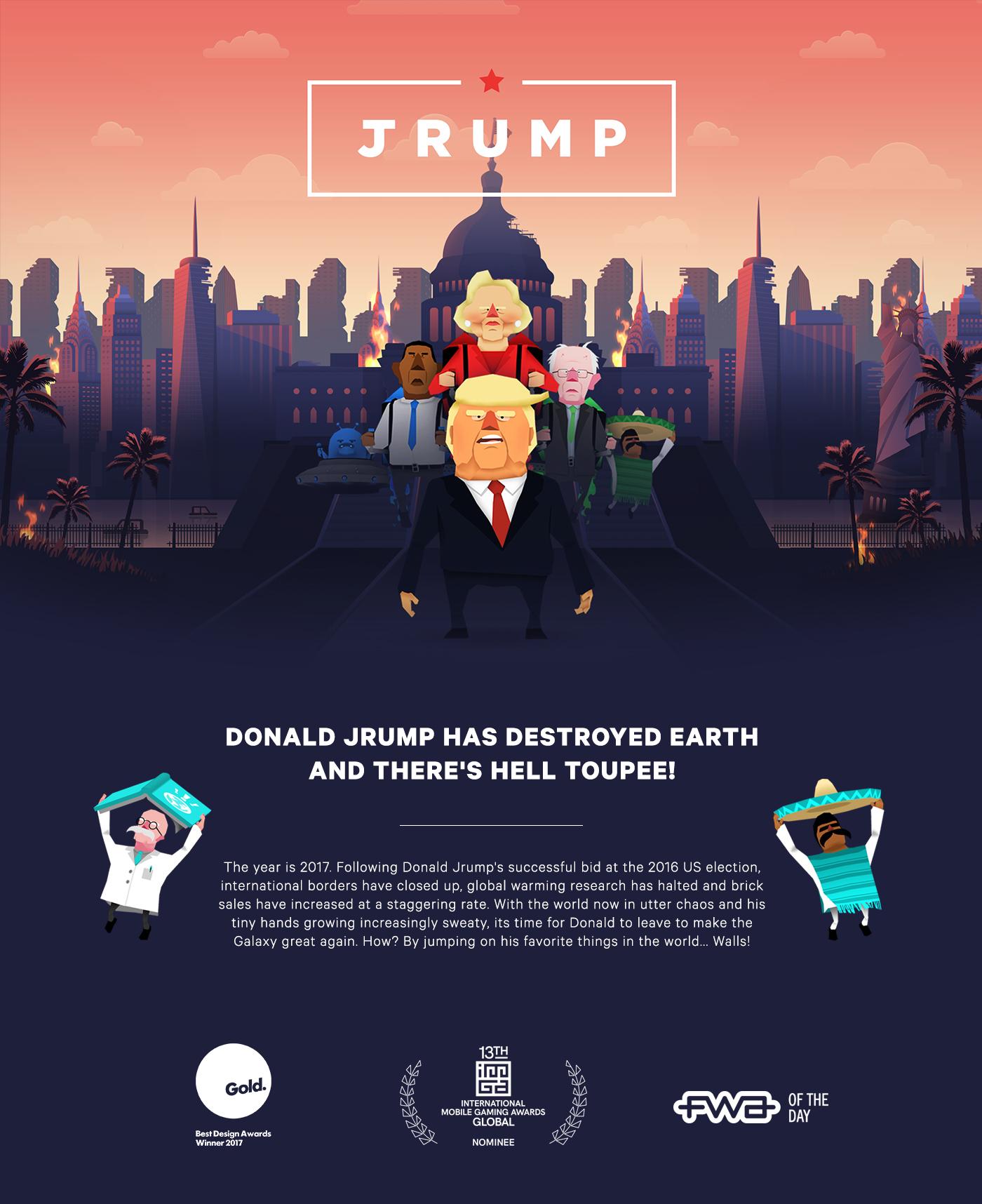 game design mobile Jrump donald Trump Oddboy
