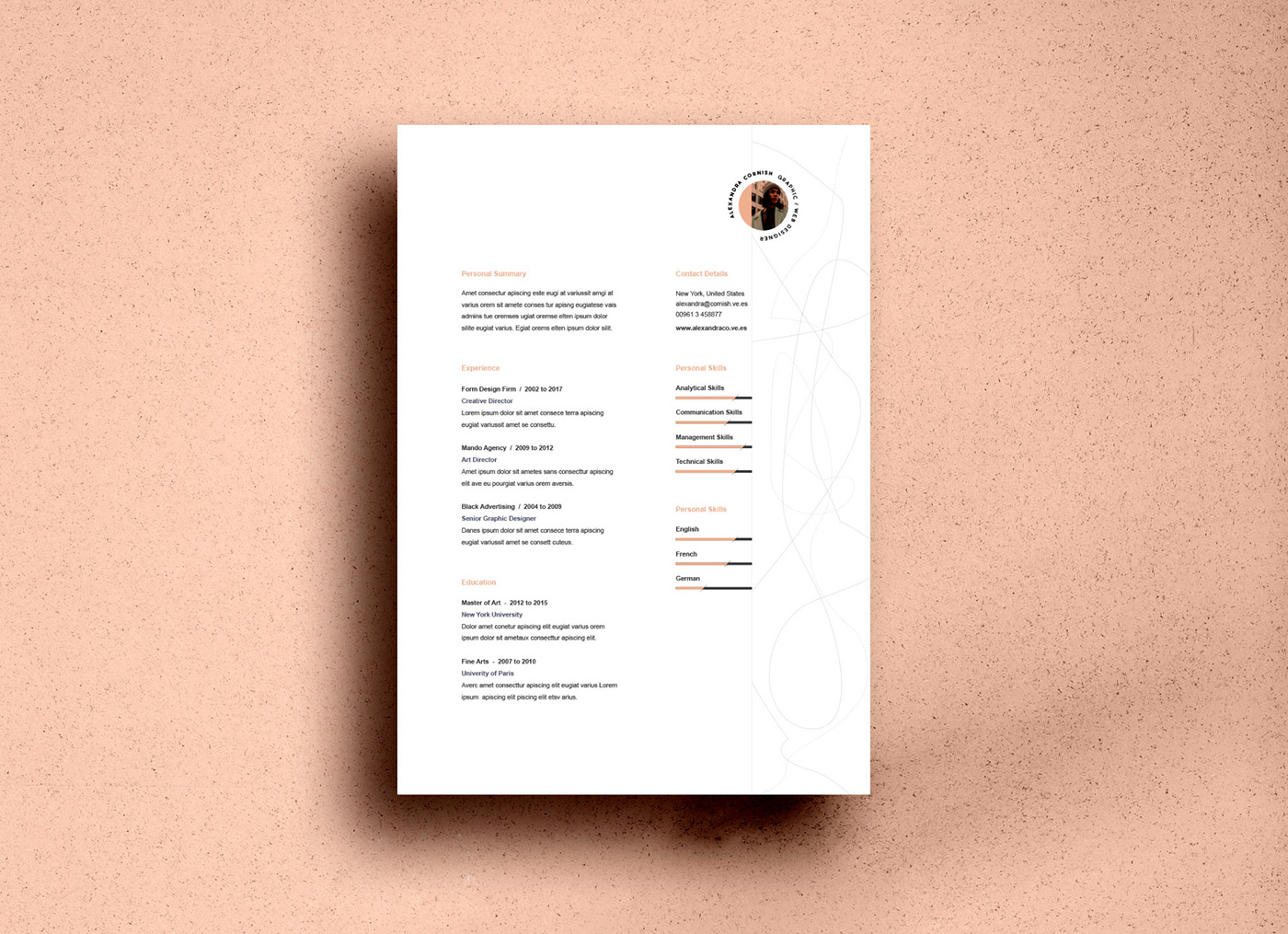 free resume templates on behance