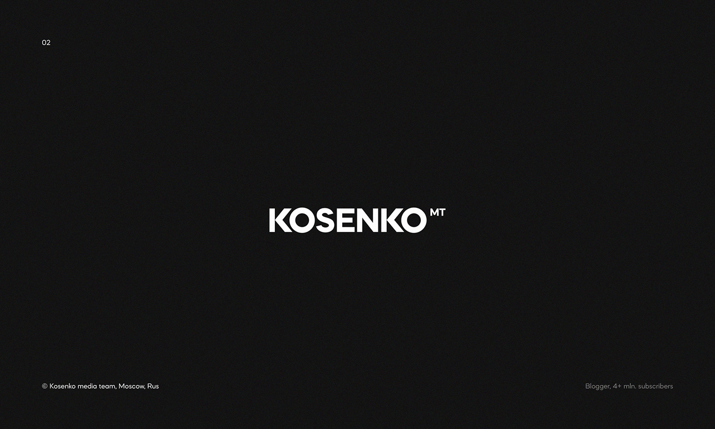 Logo for Kosenko media team — famous Russian blogger with more than 4 mln. subscribers