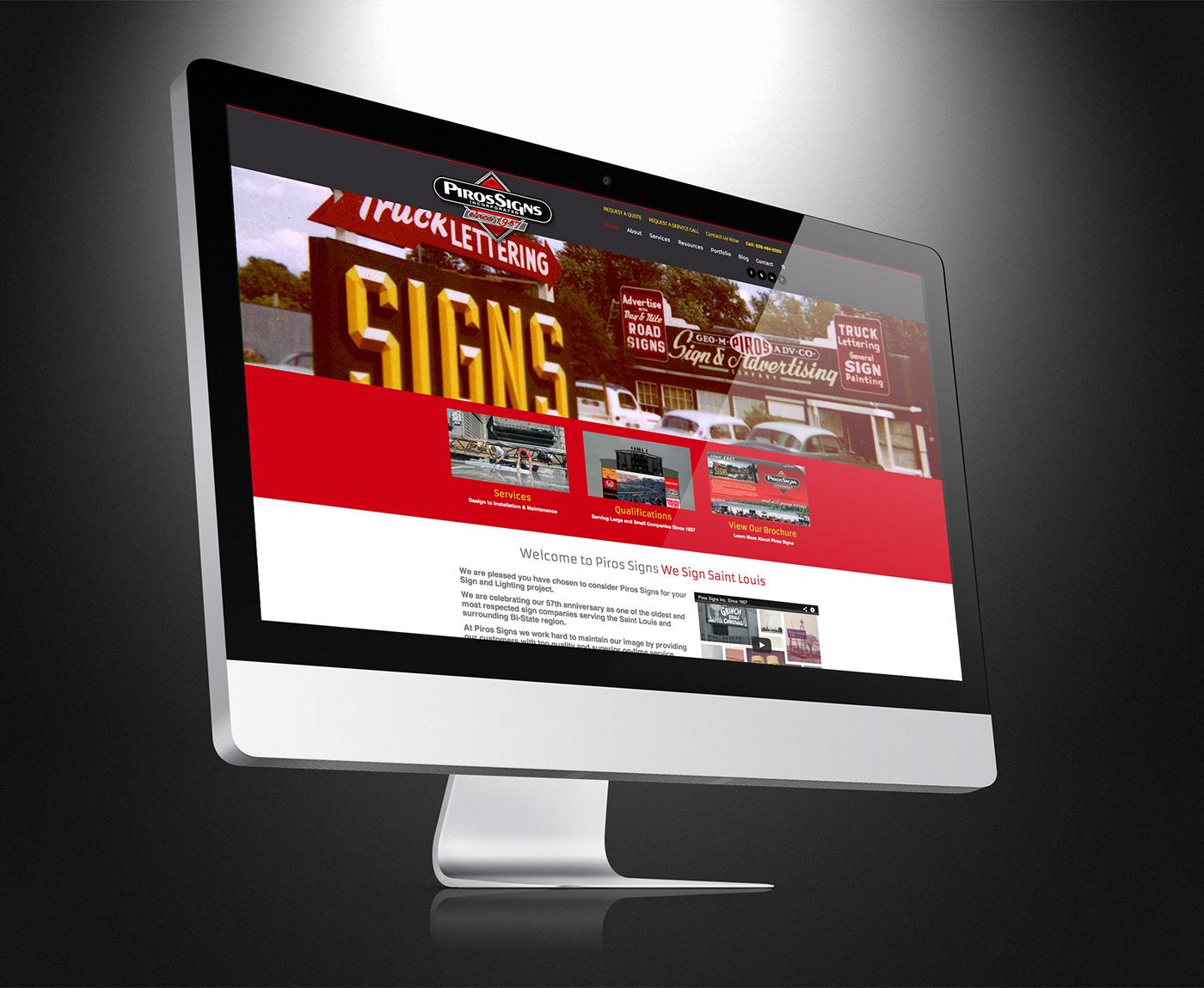 Responsive website design & Development Missouri Sign Maker