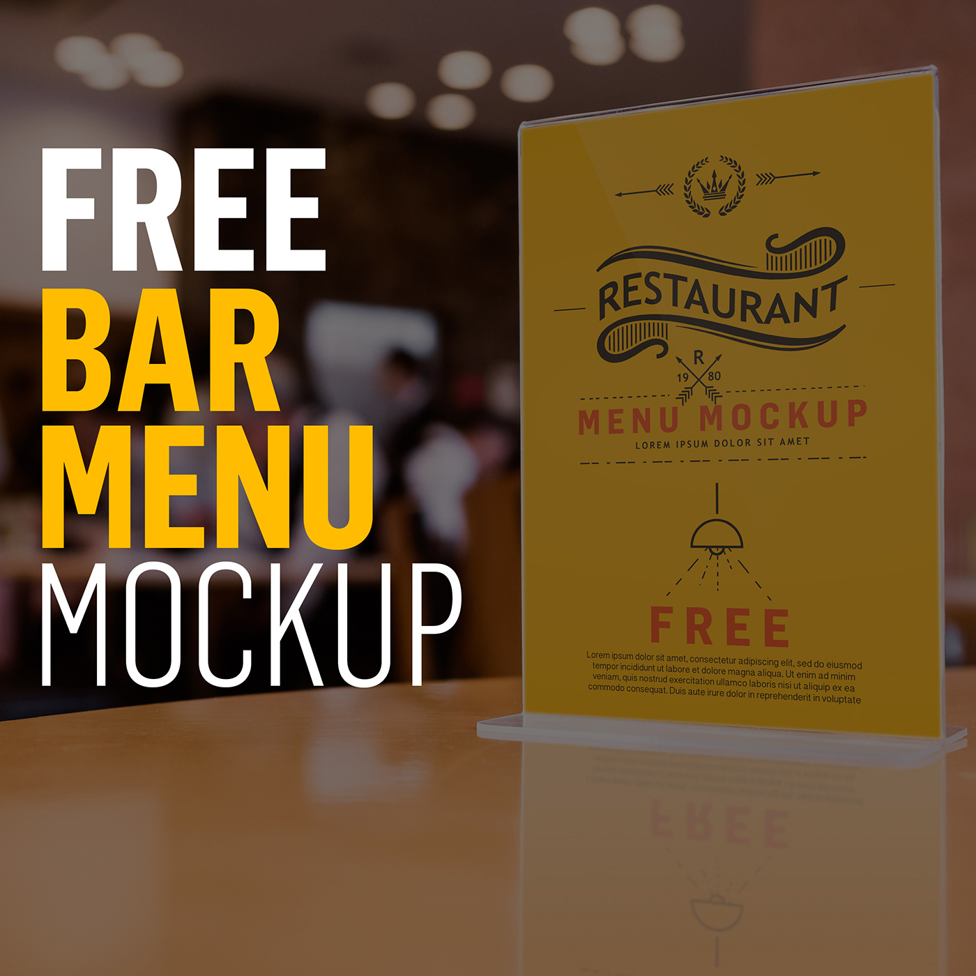 free psd bar restaurant menu mockup on behance