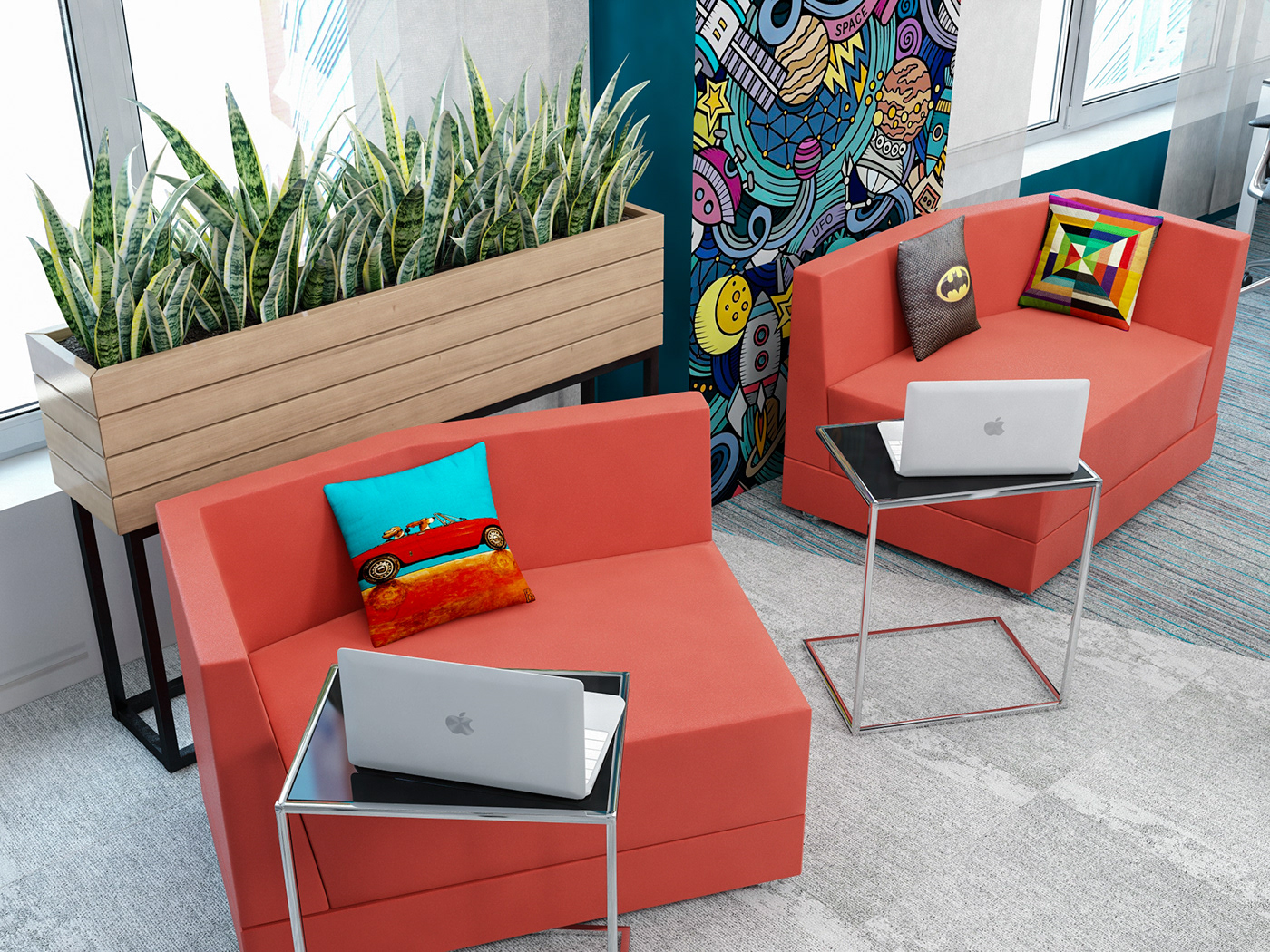 coworking space coworking OFICCE Pop Art коворкинг Office Design openspace Office interior