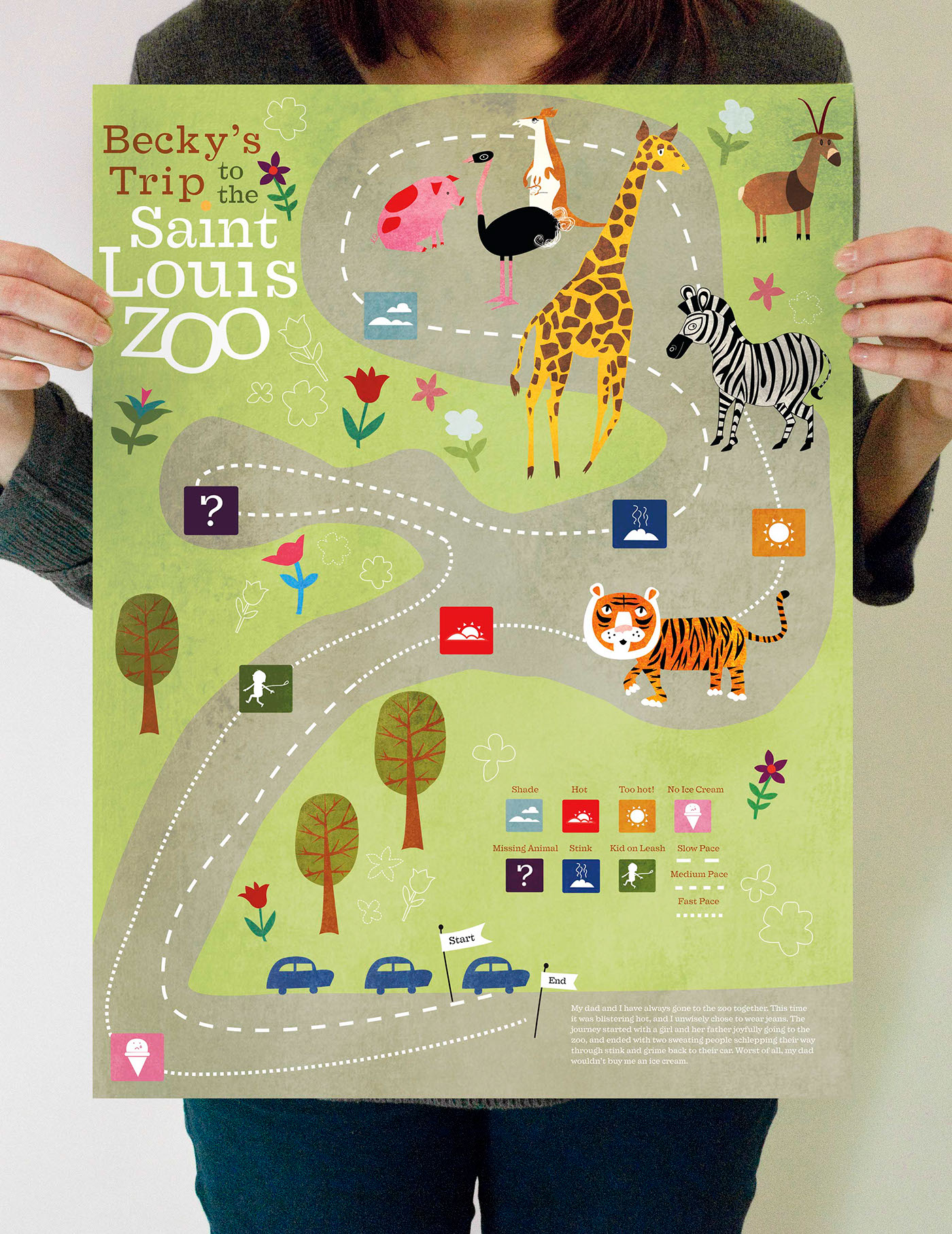 St. Louis Zoo Experience Map on Behance