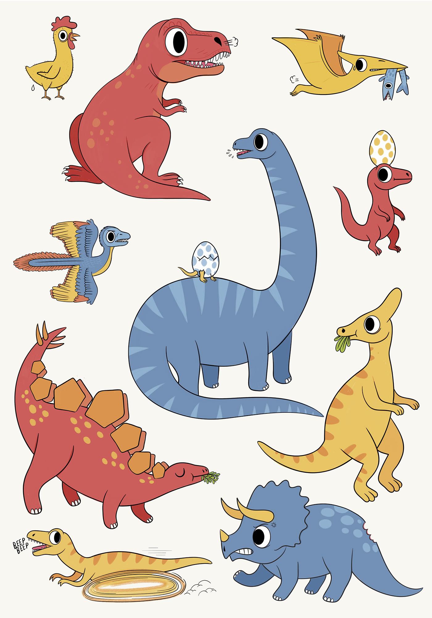 Dinosaurios On Behance
