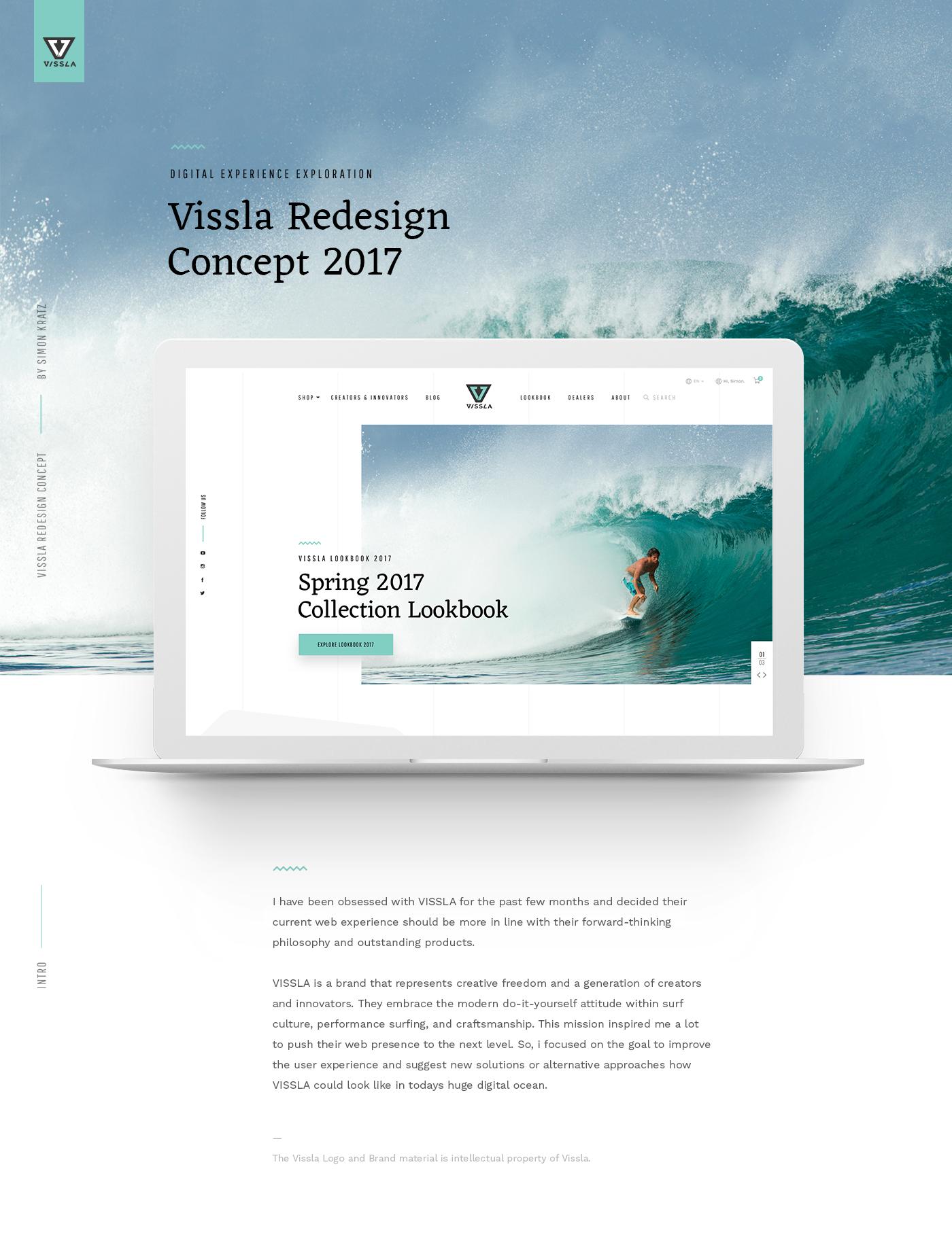 Web Design & UI/UX: Vissla Redesign Concept
