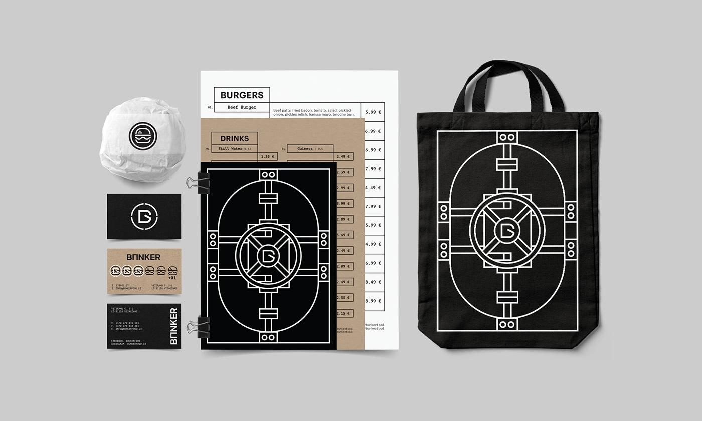 branding  identity burger Food  contemporary Logotype visual language lithuania graphic design  logos