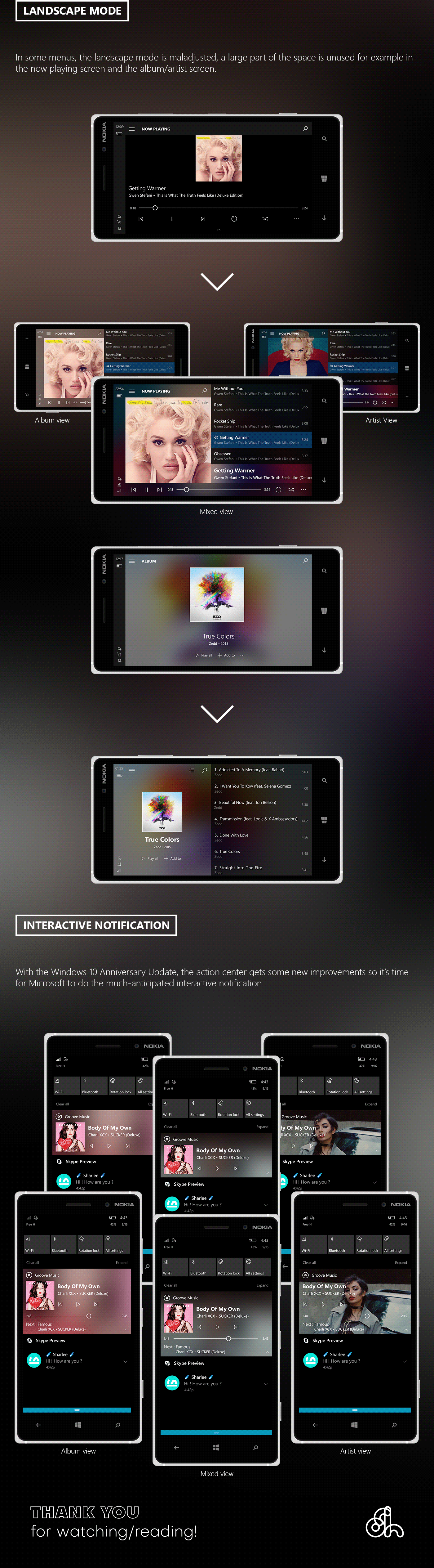 windows groove redesign concept color blur windows 10 Groove Music Microsoft