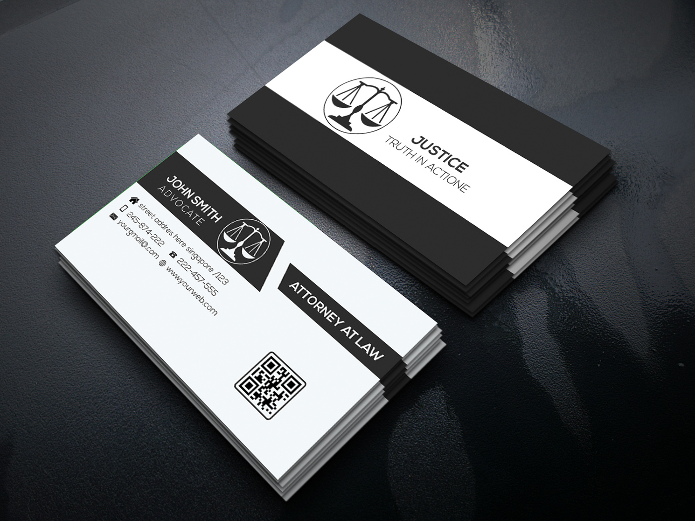lawyer business card on behance