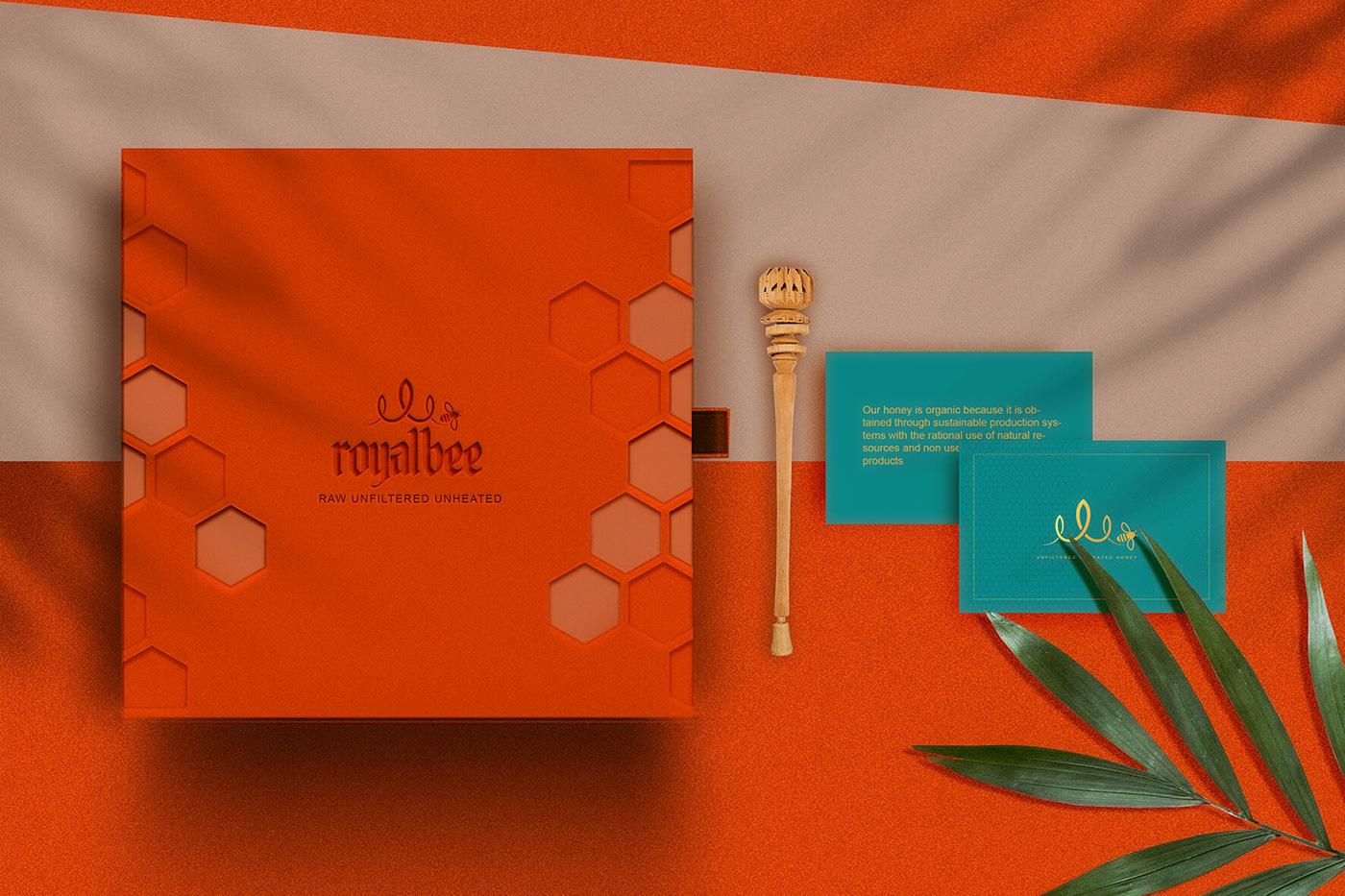 branding  Food  honey identity jar Label logo Mockup Packaging products