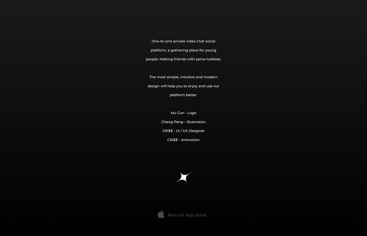 animation  app Chat clean colorful dark light minimal modern video