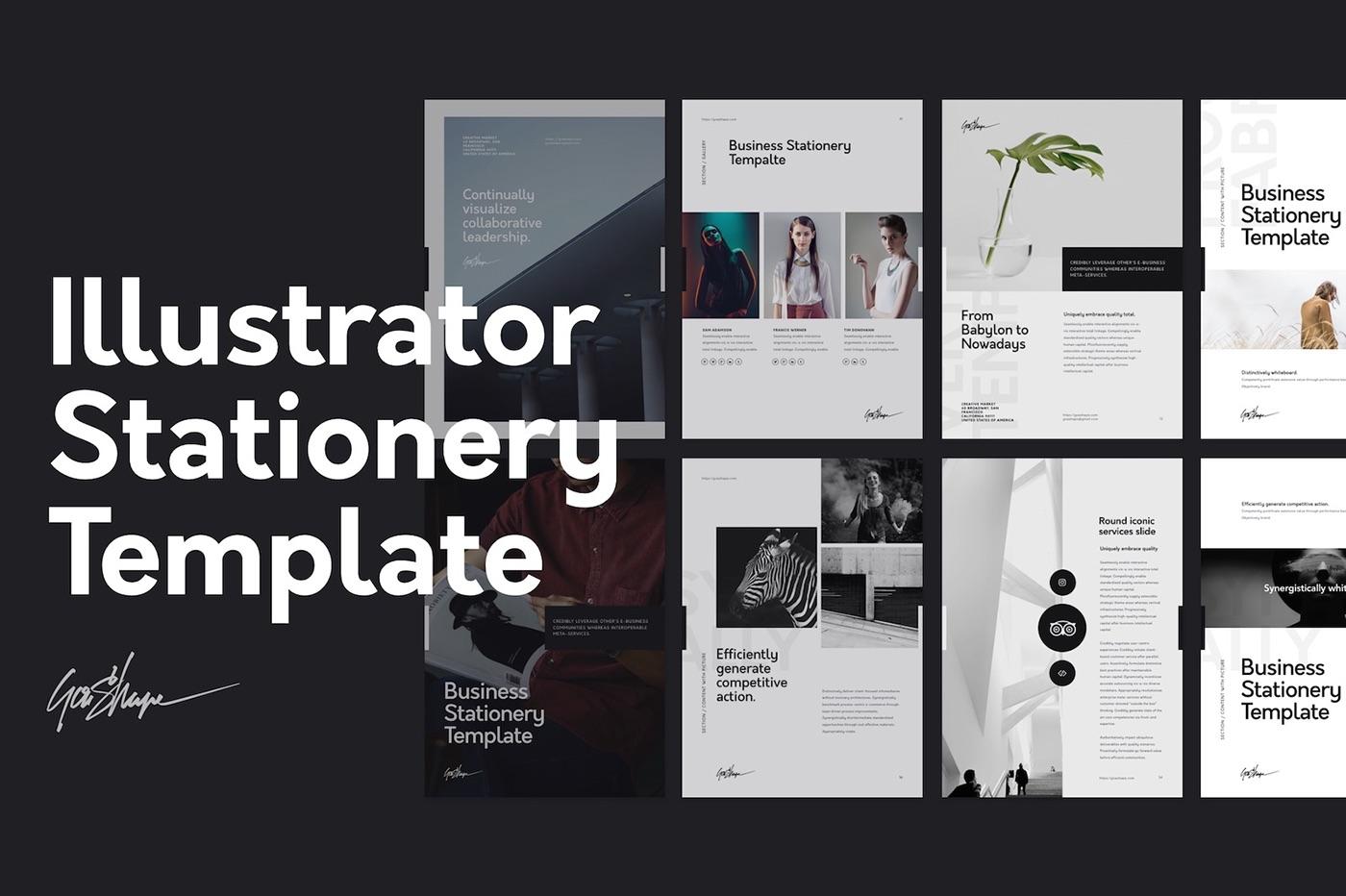 Illustrator Stationery Template on Behance