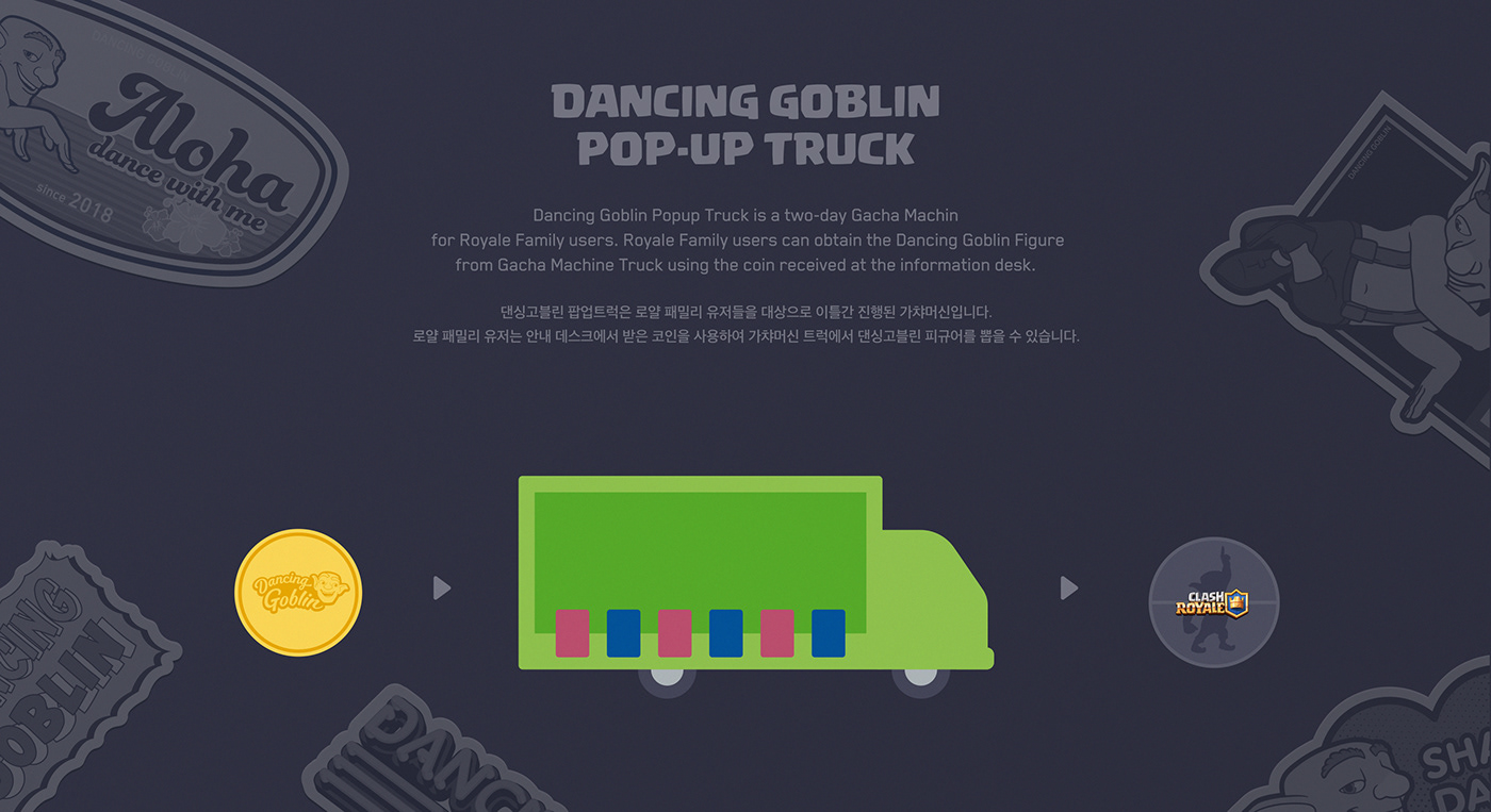 supercell DANCE   Dancing goblin Clash Royale brand identity Character BI huskyfox Event
