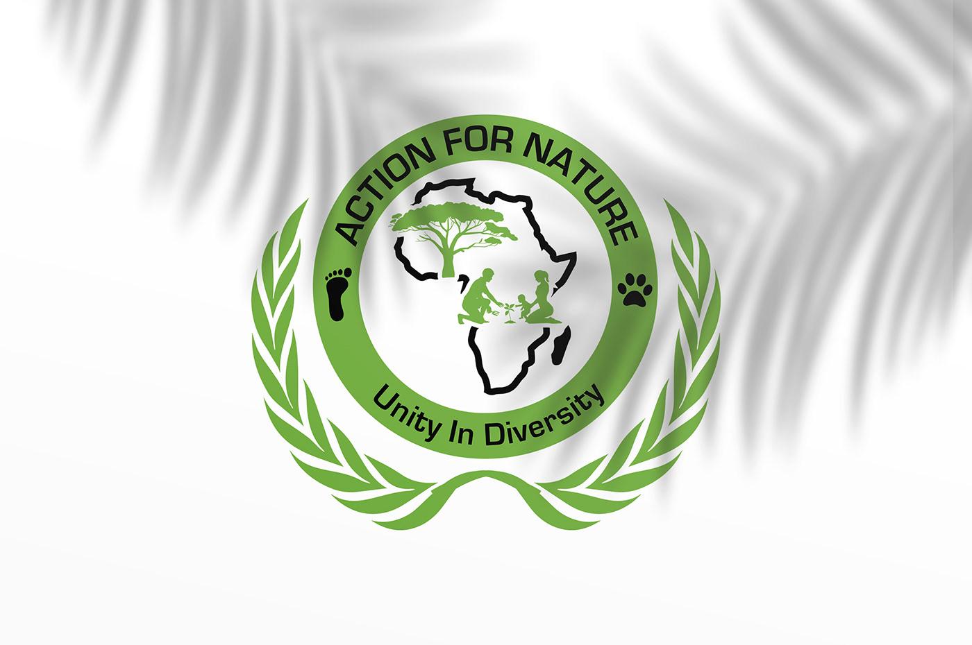 Action For Nature Africa nature logo brand identity Logo Design logo designer ya mfumu design agency