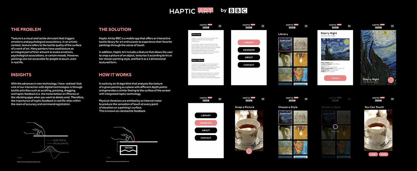 app design art BBC D&AD environmental graphics Mobile app Solution tactile ux/ui
