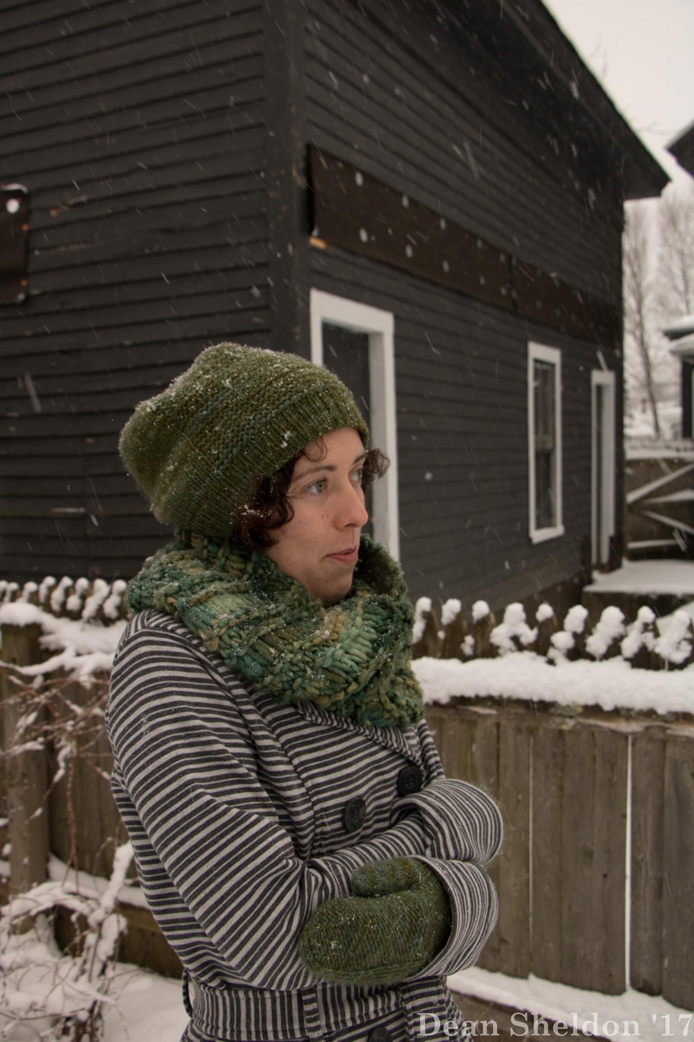 snow storm portraits smiling Photography