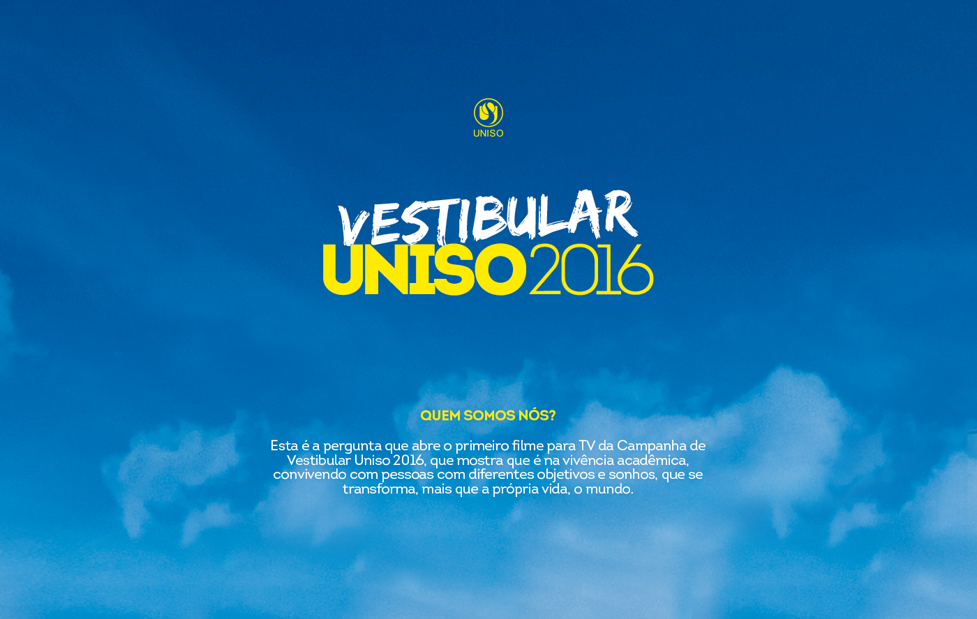 uniso vestibular escola universidade Vestibular 2016 University campaing enroll campanha design ads adverseting school colors college