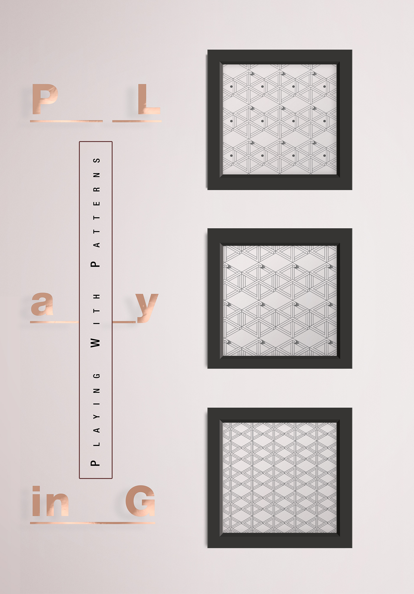 3 Squares in Row - 3D Frames on Behance