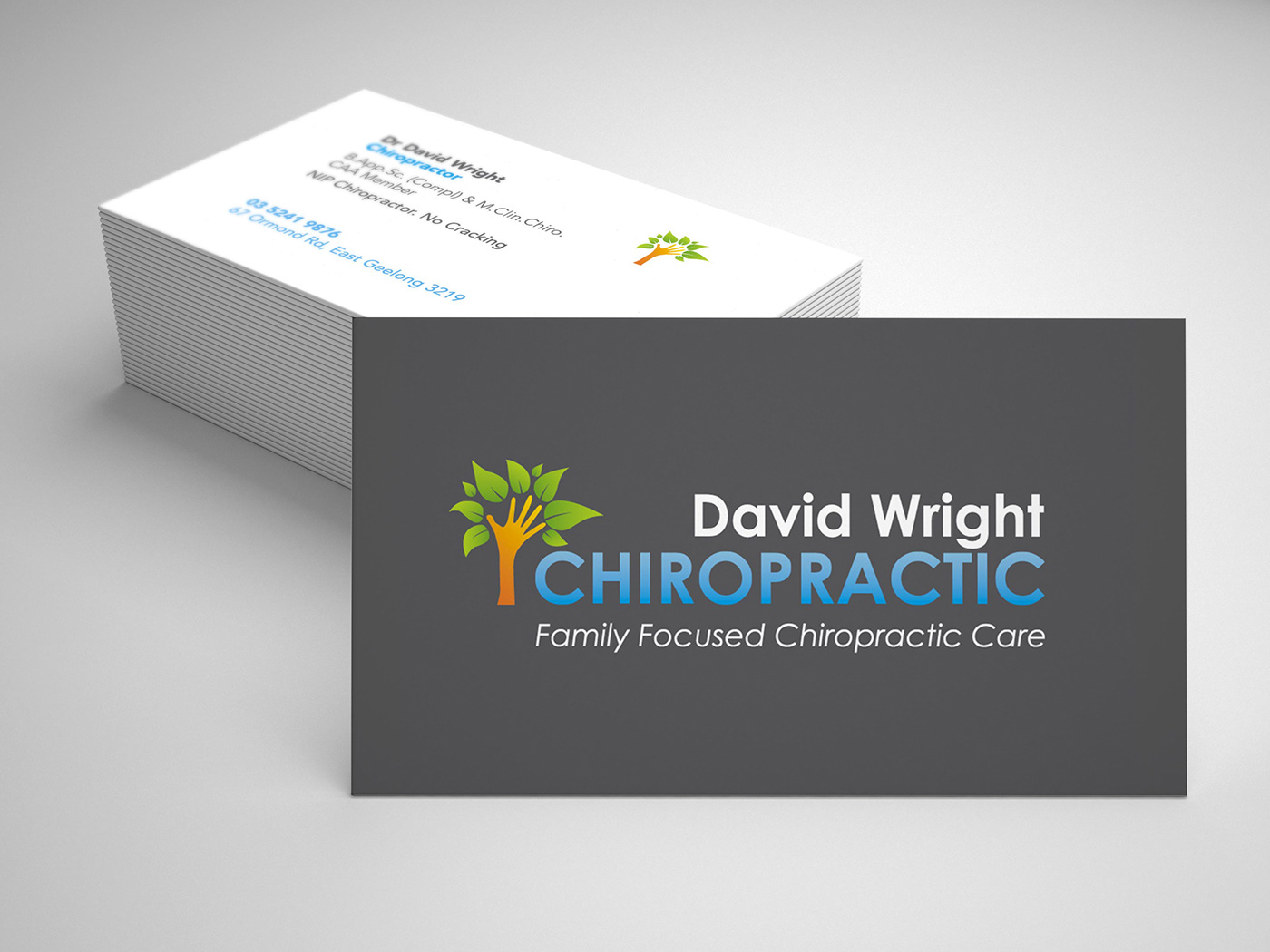 David wright chiropractic on behance business cards reheart Choice Image