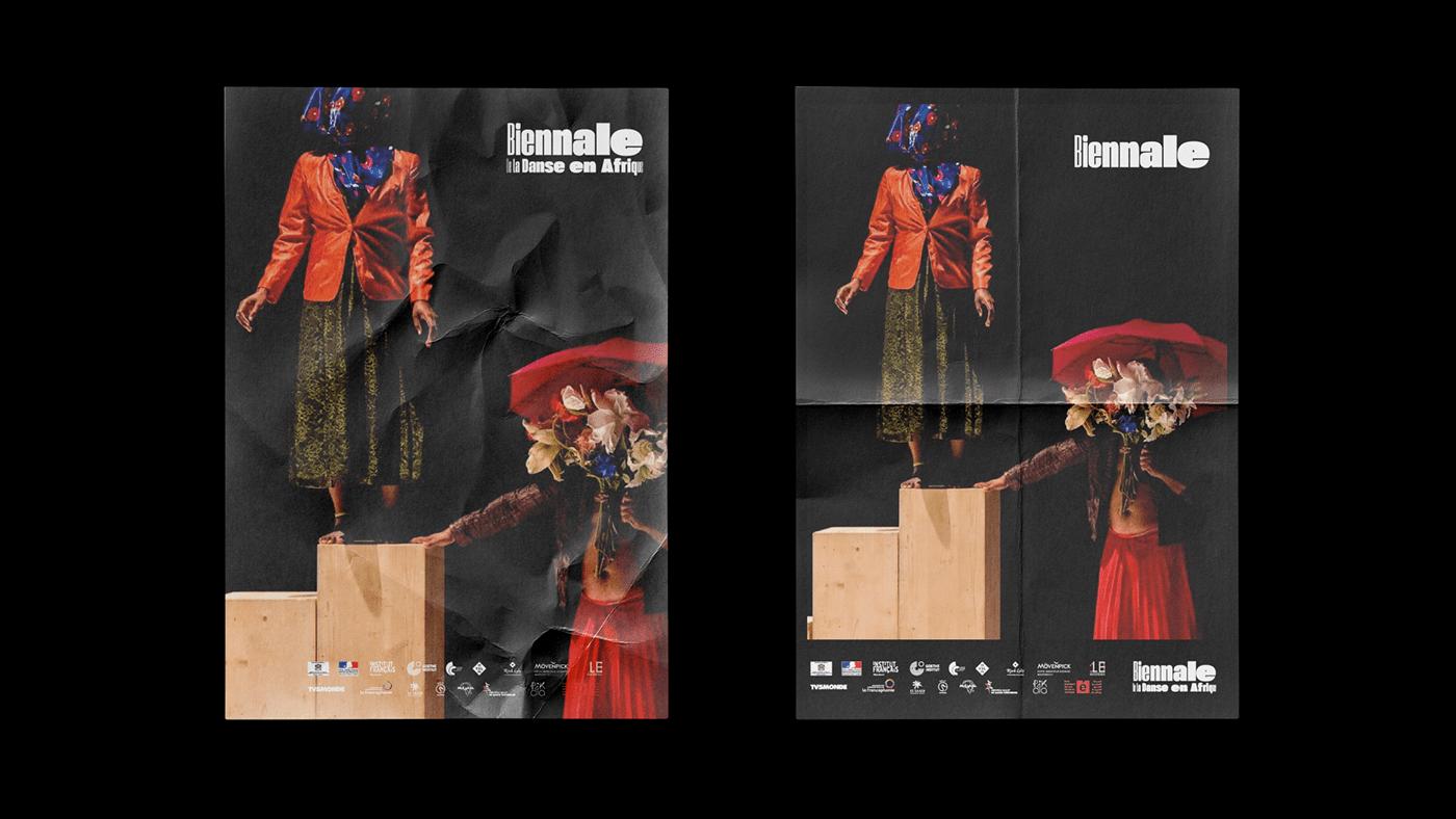 afrique Biennale branding  danse danse contemporaine festival identité visuelle Photographie Typographie UI/UX