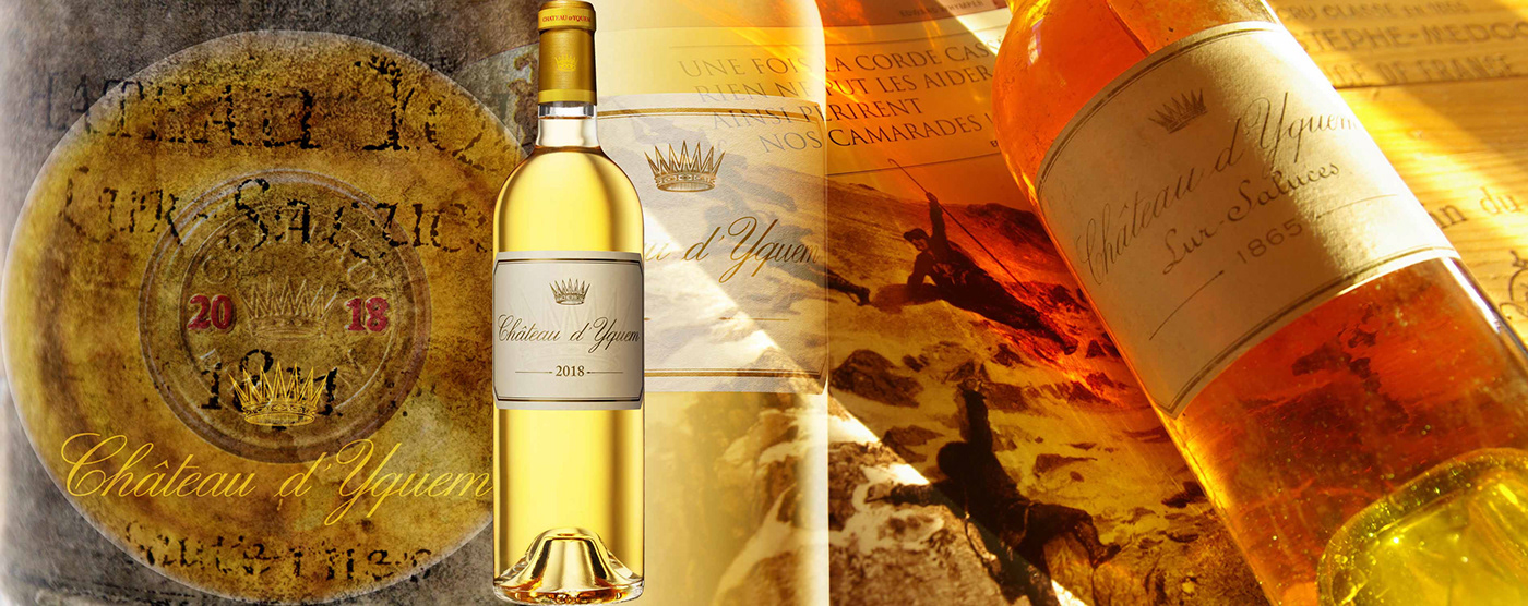 Header for Yquem wine, Magnin wine & Spirits