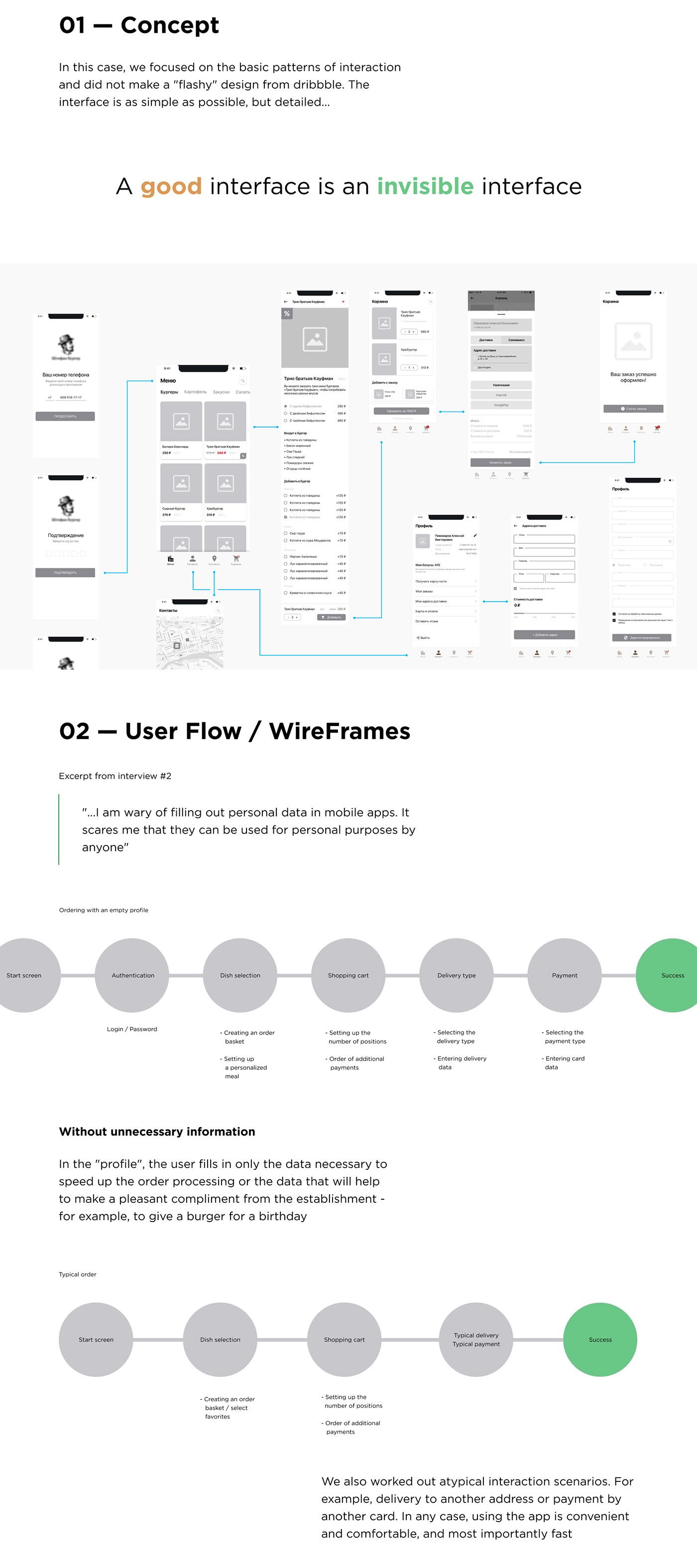 app design burger design mobile UI ux ux/ui app ui