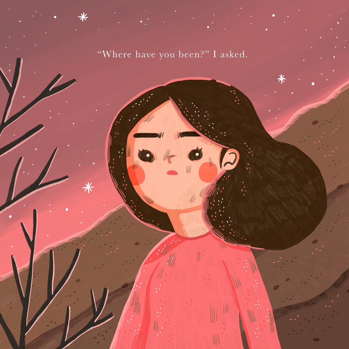 Easter illustrated poem whimsical illustration easter story children illustration hope Story Book short story fantasy illustration