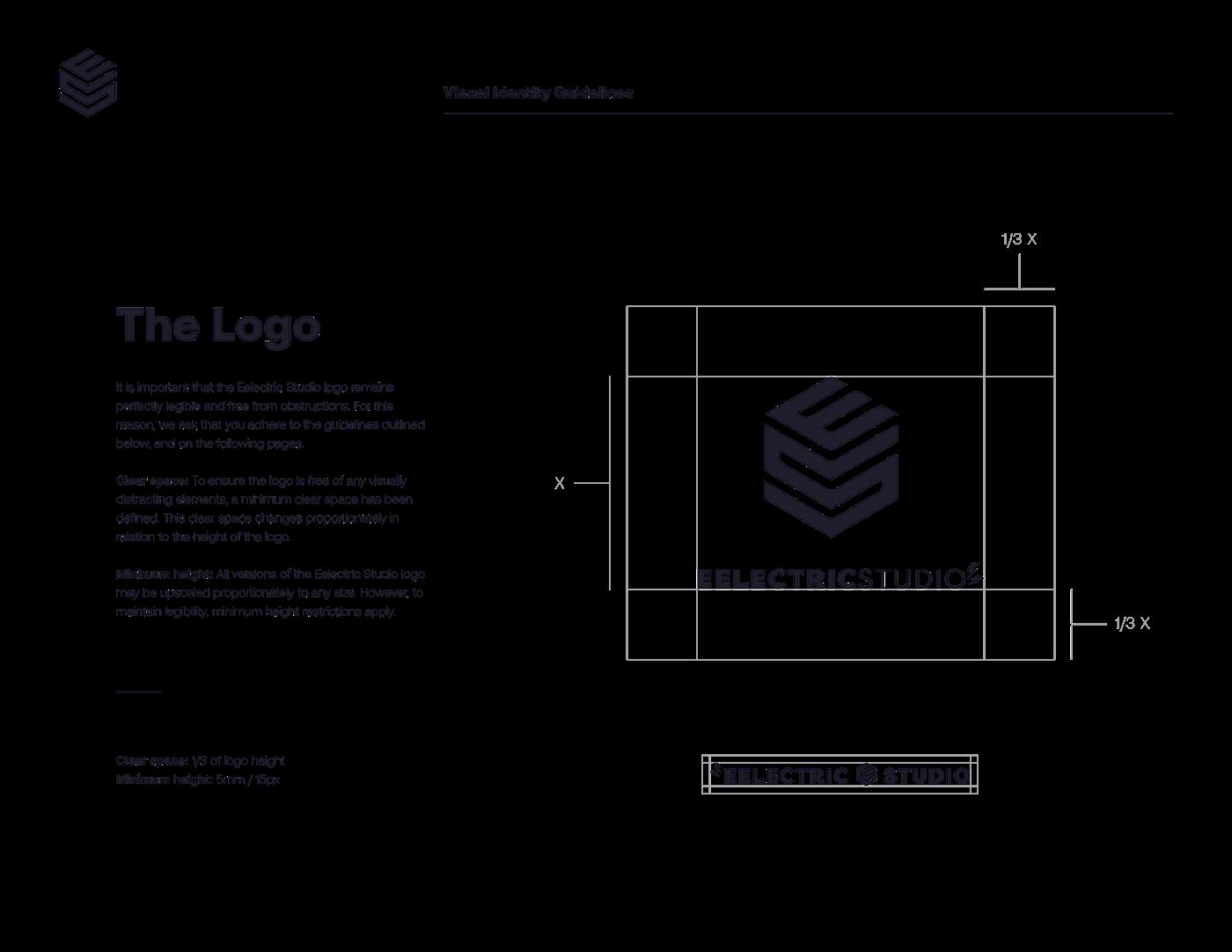 branding  identity eelectric studio music sound engineering visual guidelines