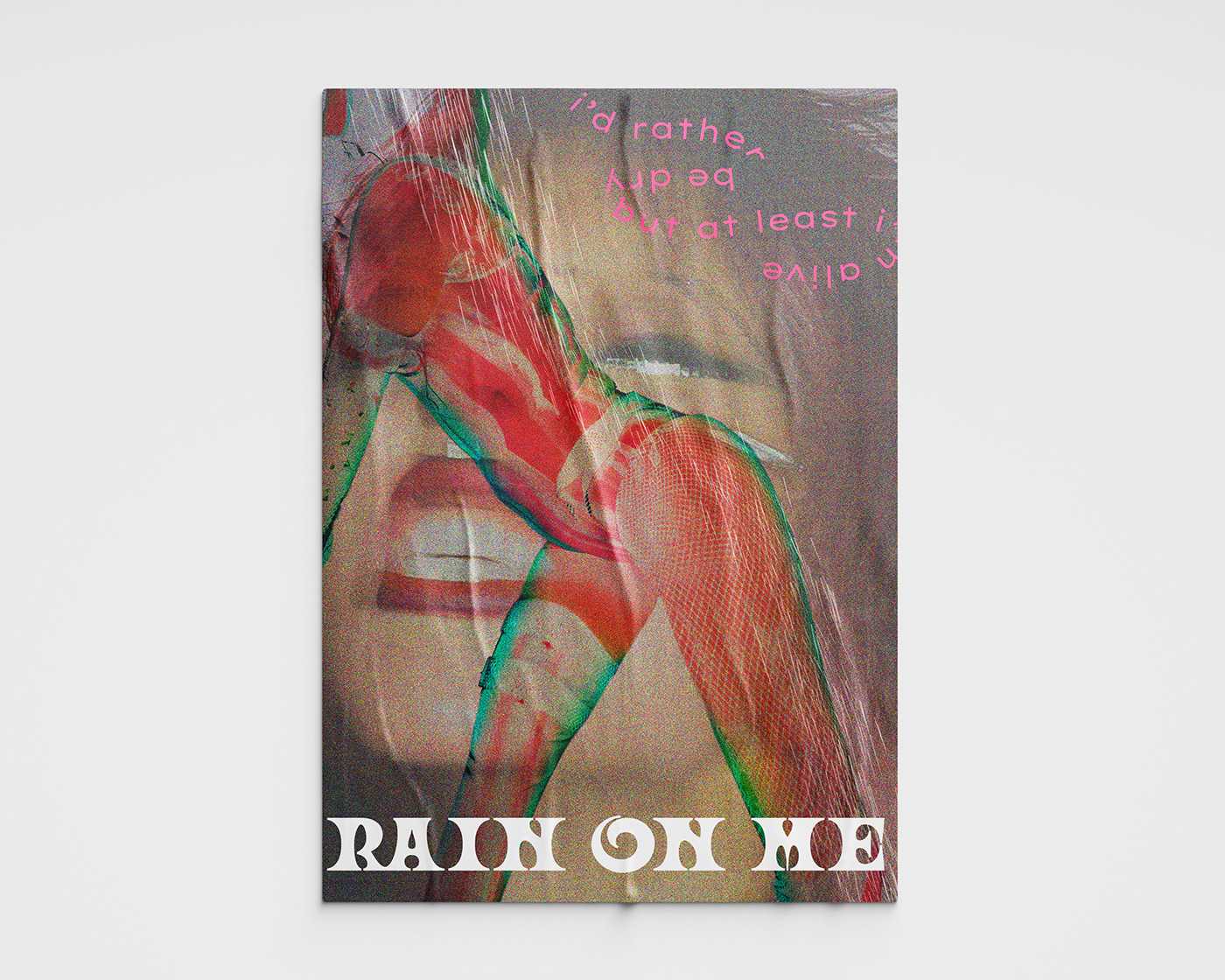 adobe Chromatica contest gaga Lady Gaga neon poster rain on me
