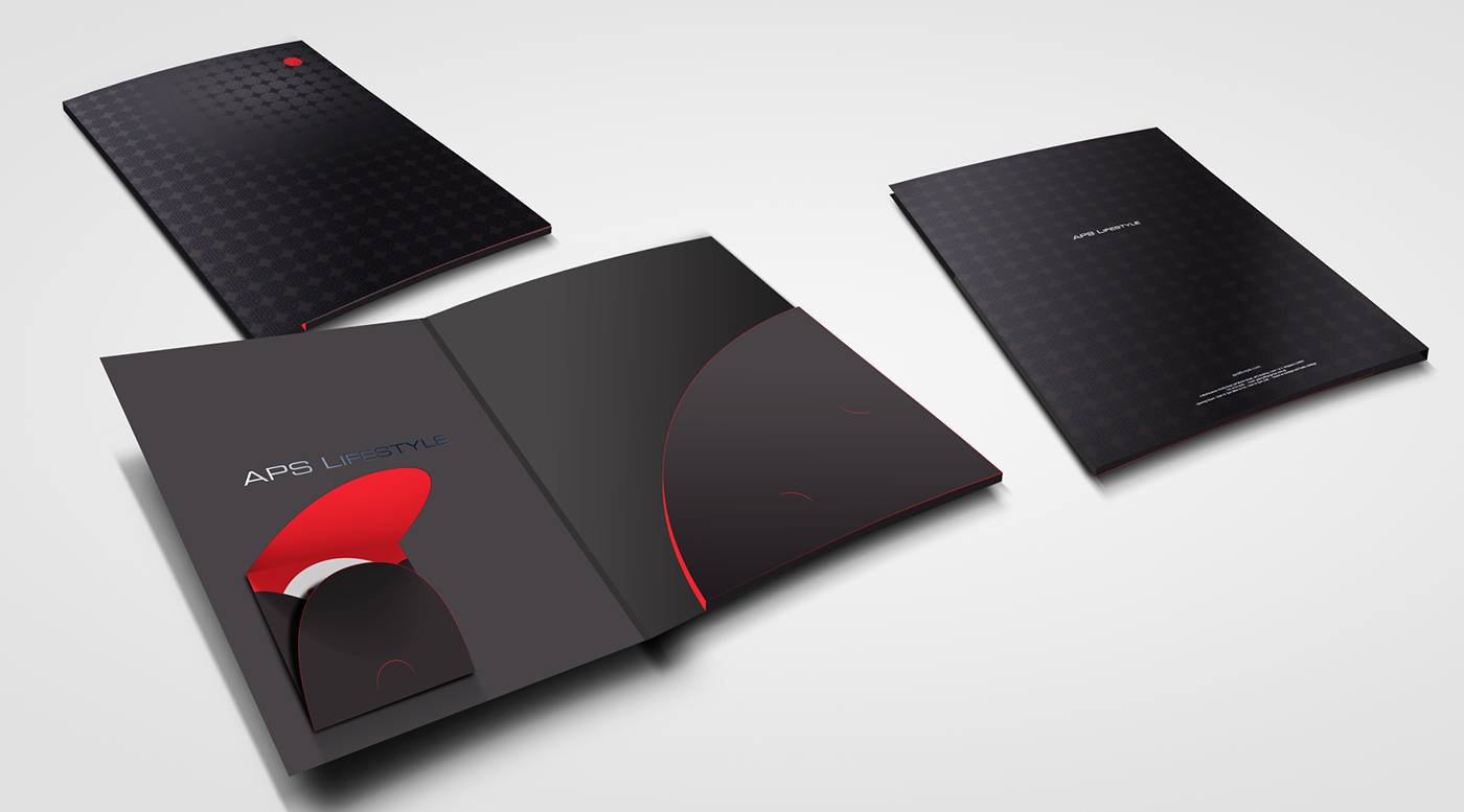 aps lifestyle corporate folder and inserts on behance