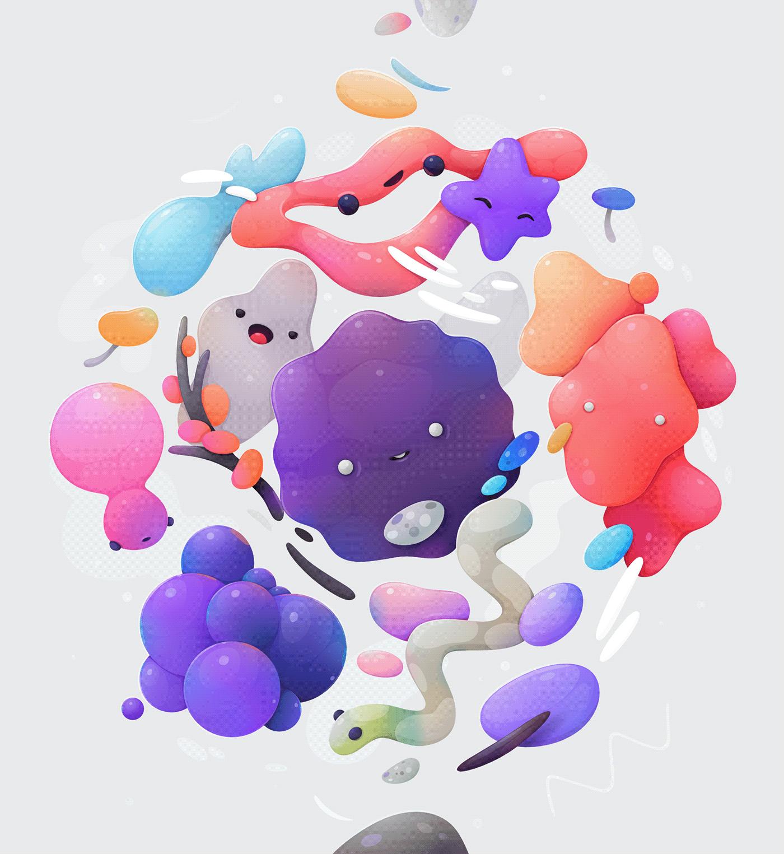 Image may contain: indoor, cartoon and balloon