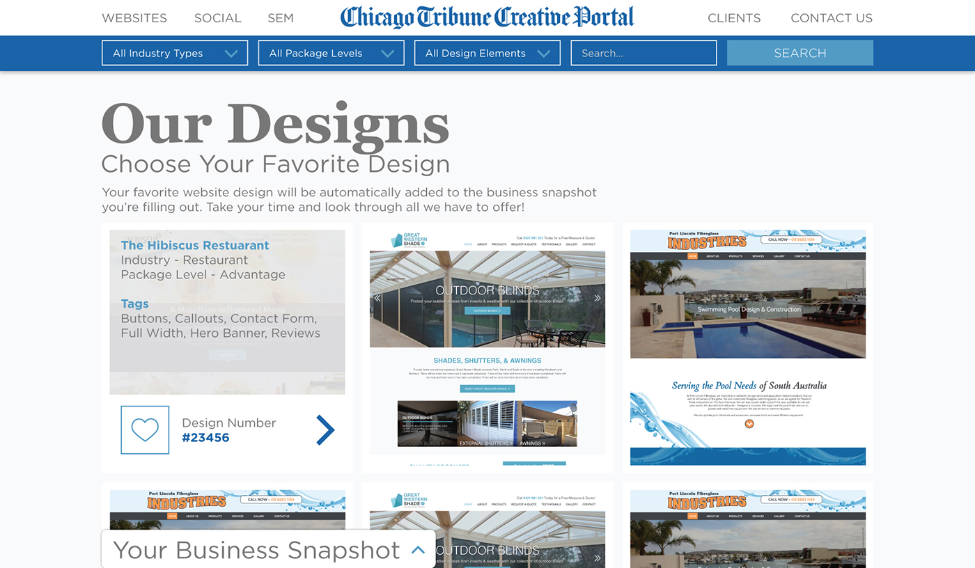 Creative Portal Skinning and Client Experience