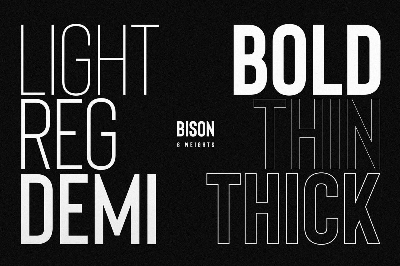 Bison Font Family (Free download) on Behance