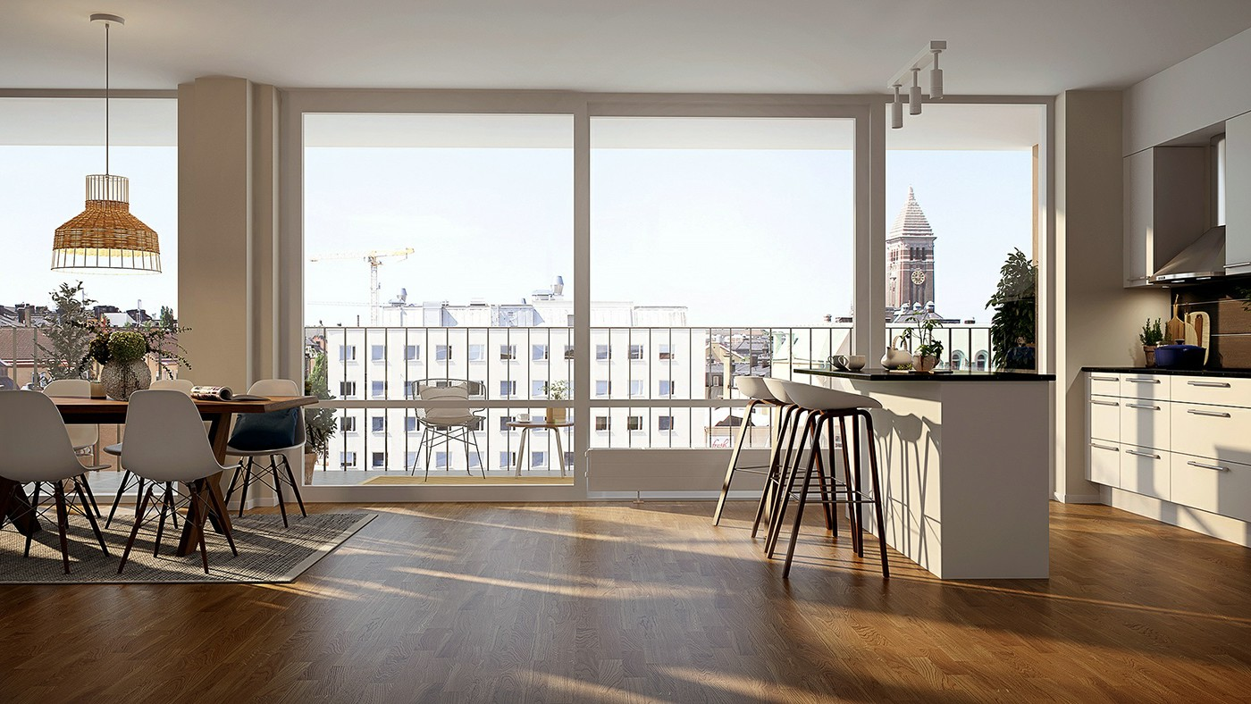 kitchen Interior 3d renderings