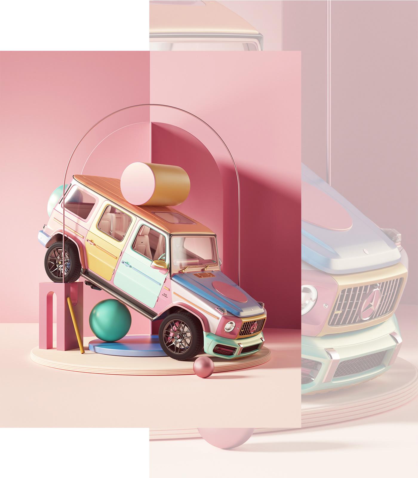 3D art automotive   c4d cinema4d instagram octane petetarka Render setdesign