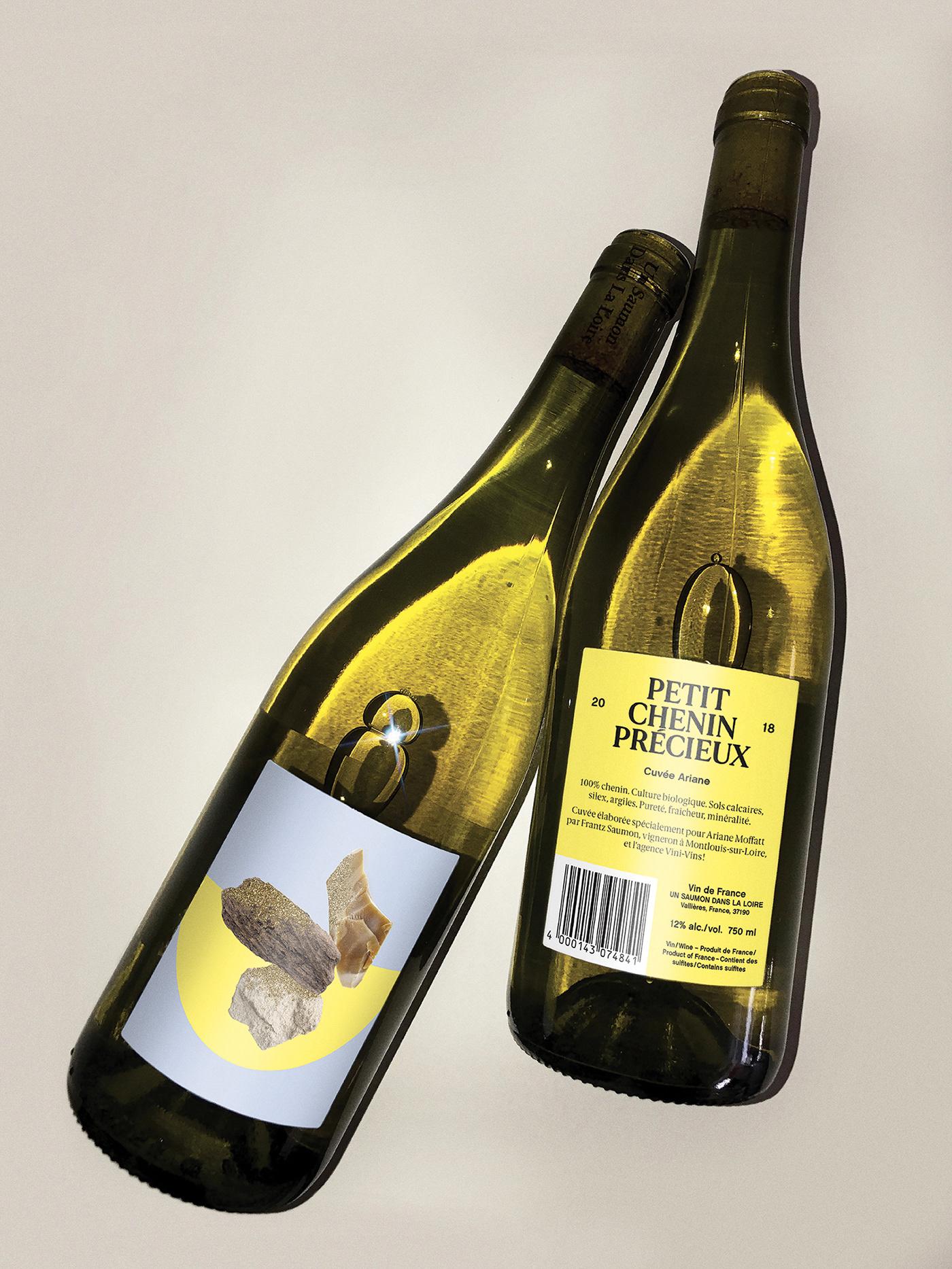 collage graphic design  ILLUSTRATION  Label Packaging wine
