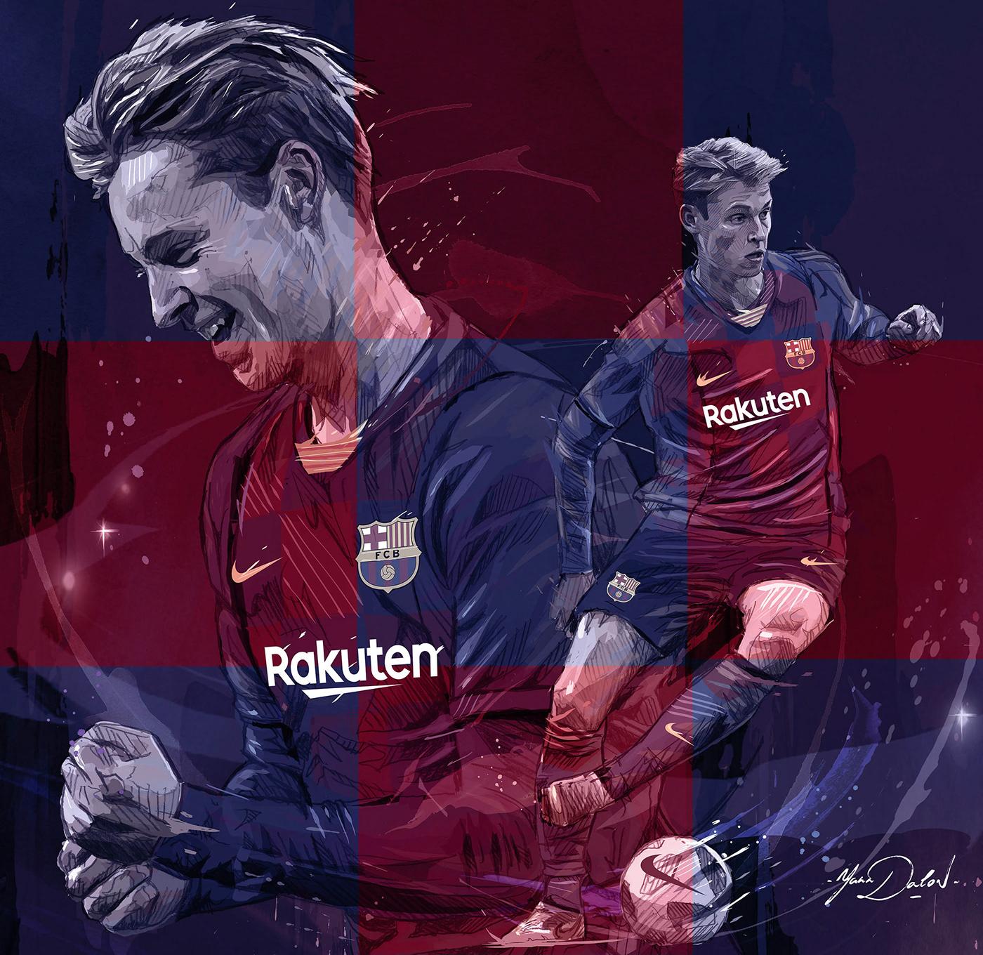 Frenkie de Jong frenkie FC Barcelona football soccer Dynamic messi poster foot barcelona