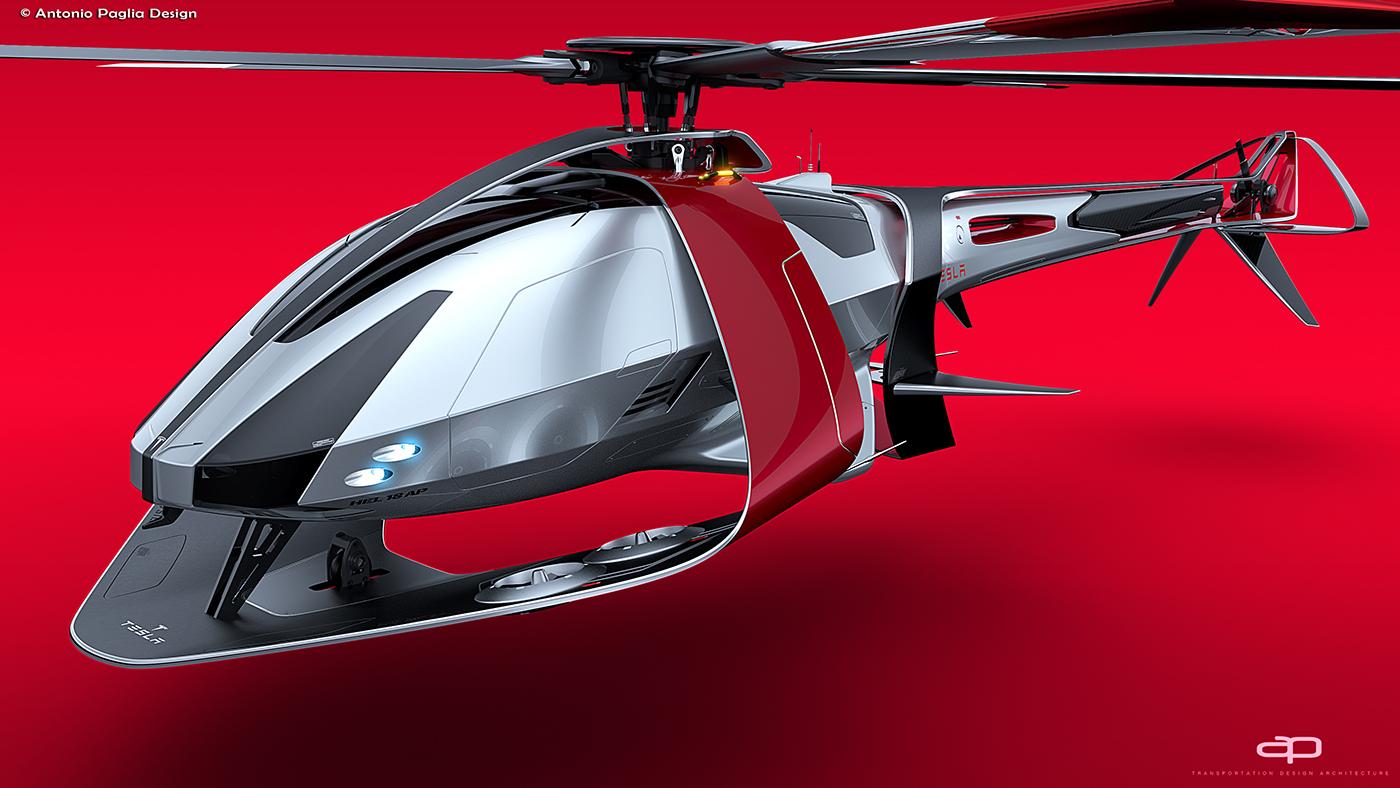 Elicottero 3d Model : Illustrazione d dell elicottero mi modello facade vista