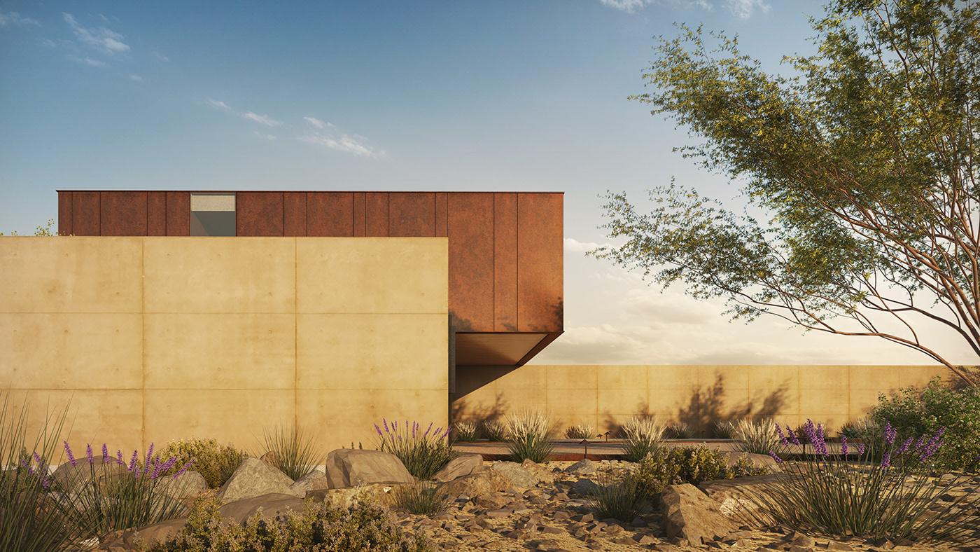 architectural renderings architecture design digital ILLUSTRATION  modern Render rendering sketch V-ray