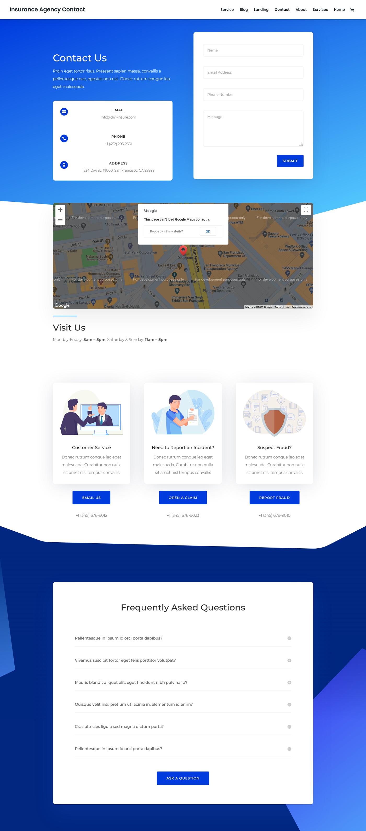 Insurance agency website web development  Website Design Wordpress Website zaman ador