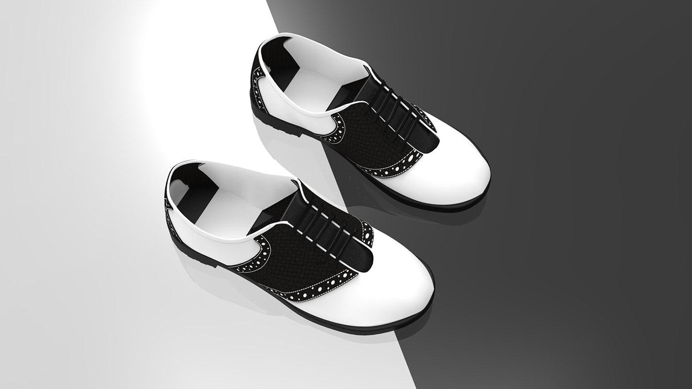 shoe oxford saddle shoe oxford shoe Fashion  apparel Rhino keyshot shoe design