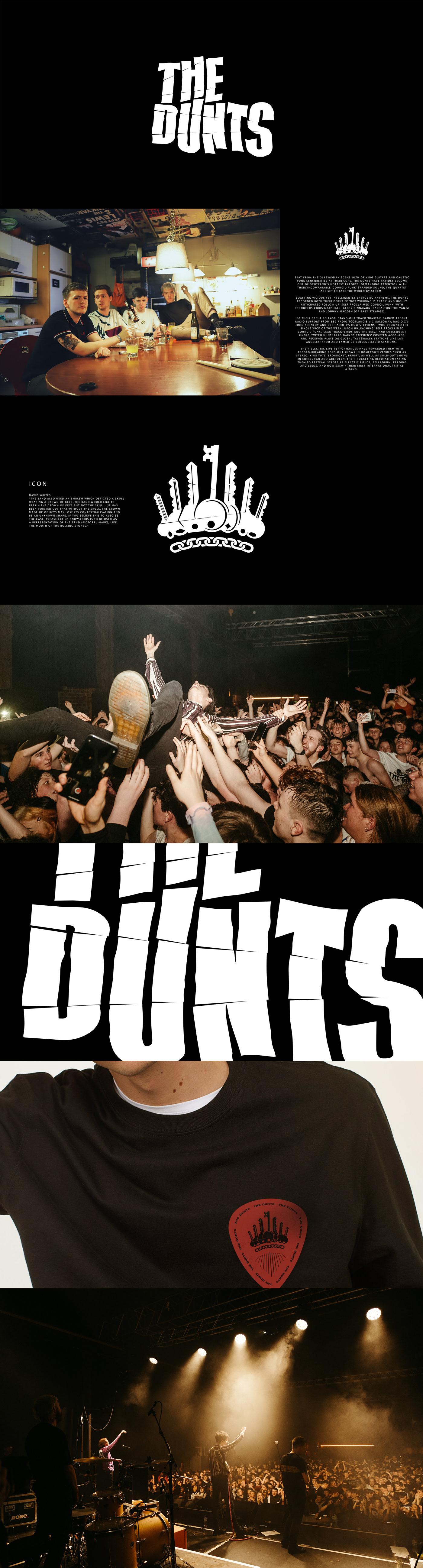 band branding  logo logos punk THE DUNTS music music band Music Branding music logo