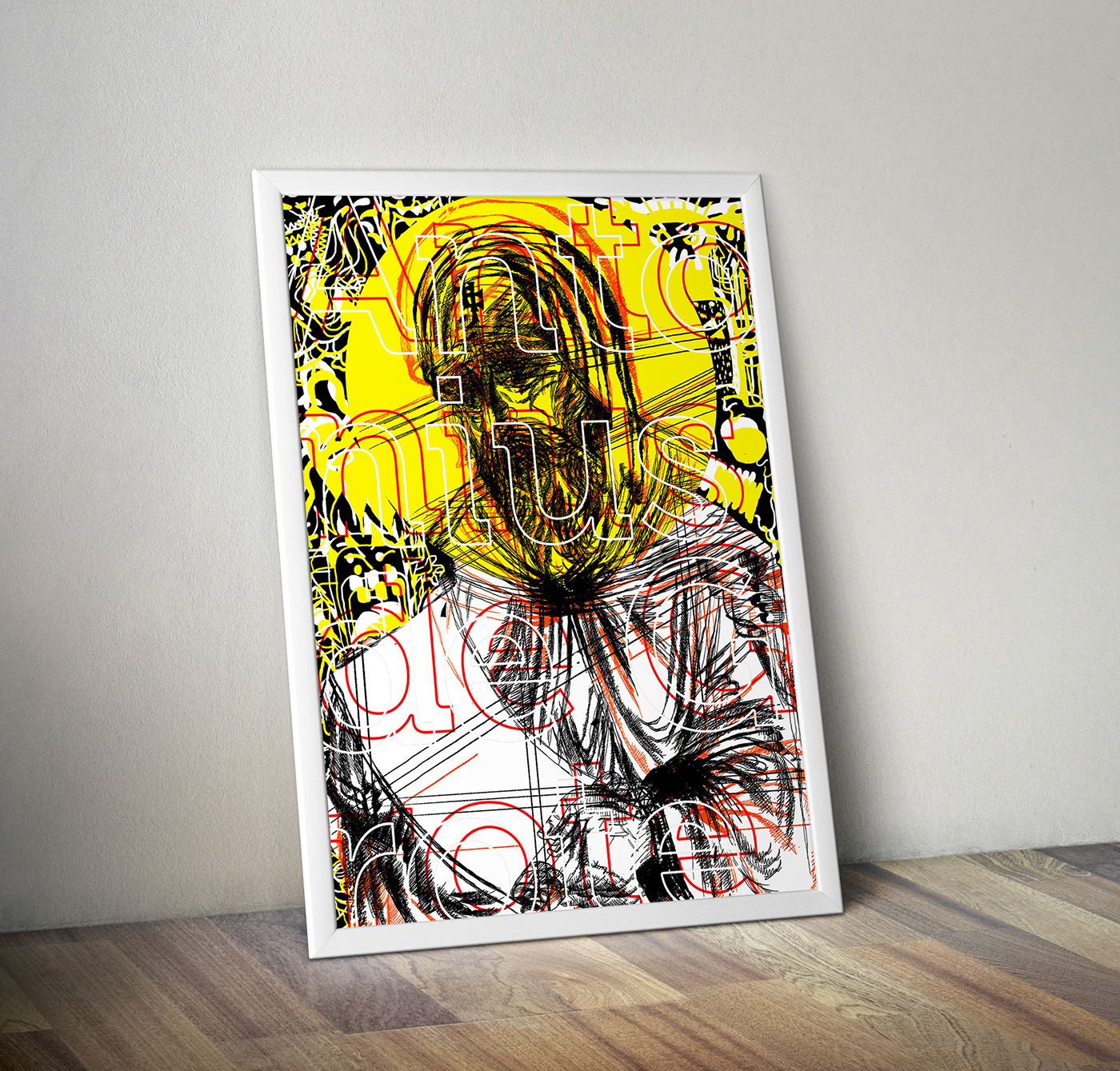 Image may contain: drawing, wall and painting