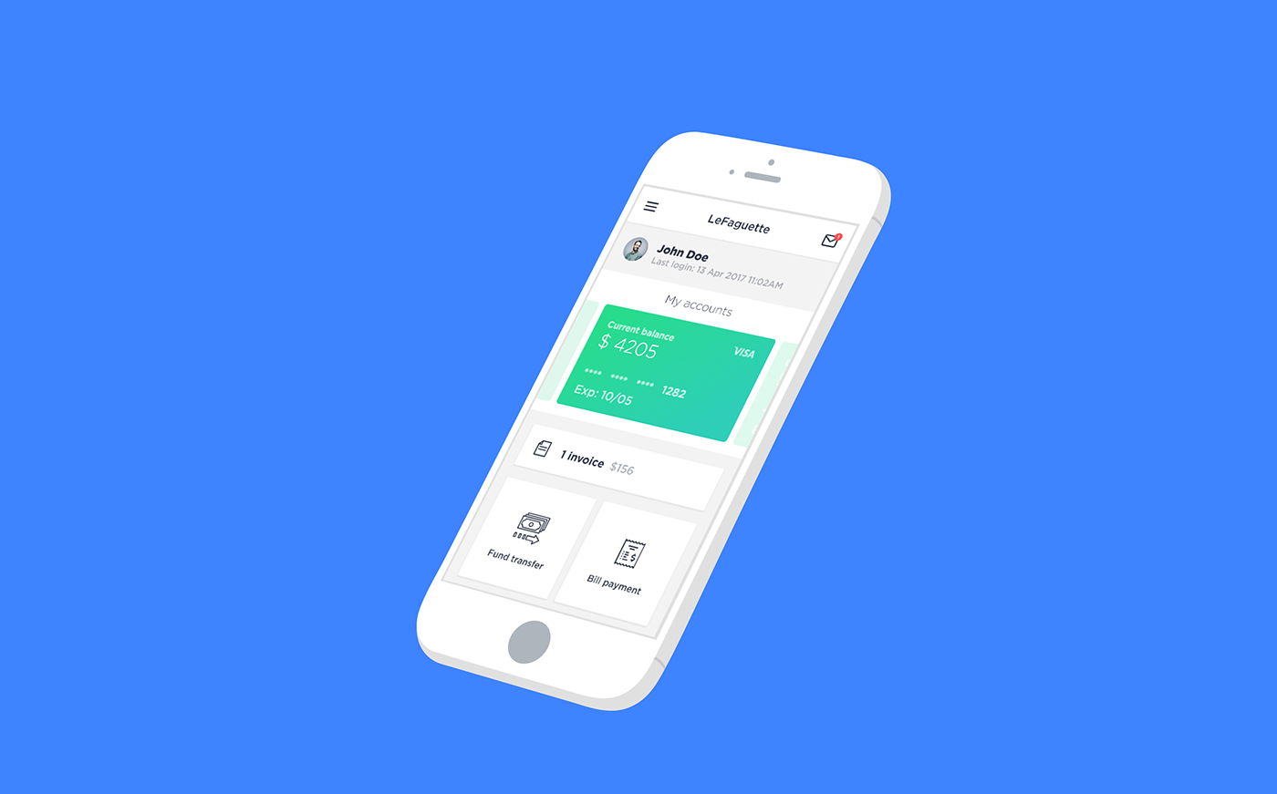 finance money UI mobile app Minimalism TRANSFER Bank Fintech ux