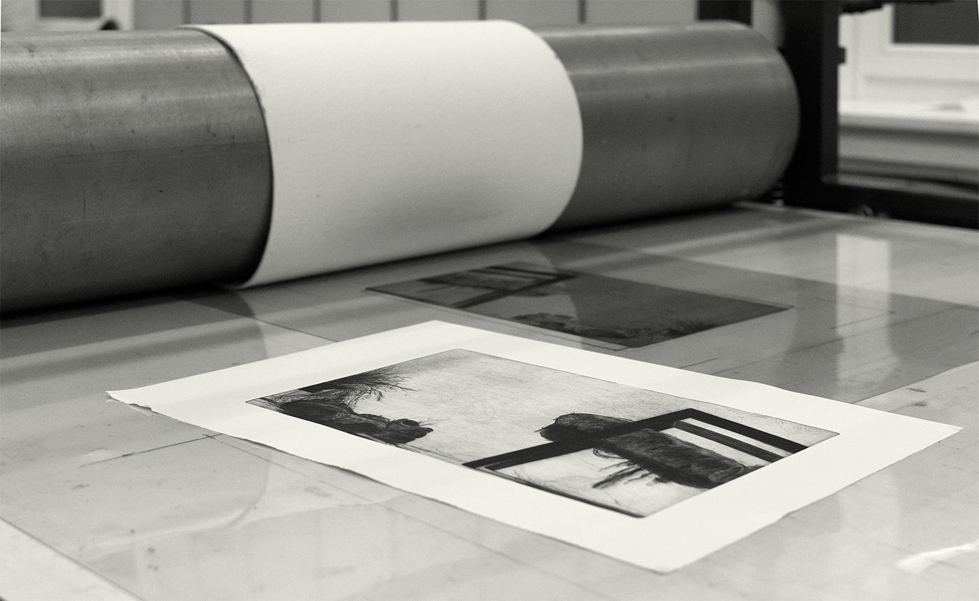 garderobe DryPoint printmaking
