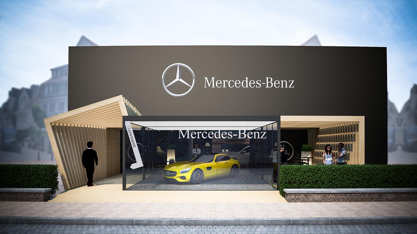 mercedes benz amg summer pop up store knokke on behance. Black Bedroom Furniture Sets. Home Design Ideas